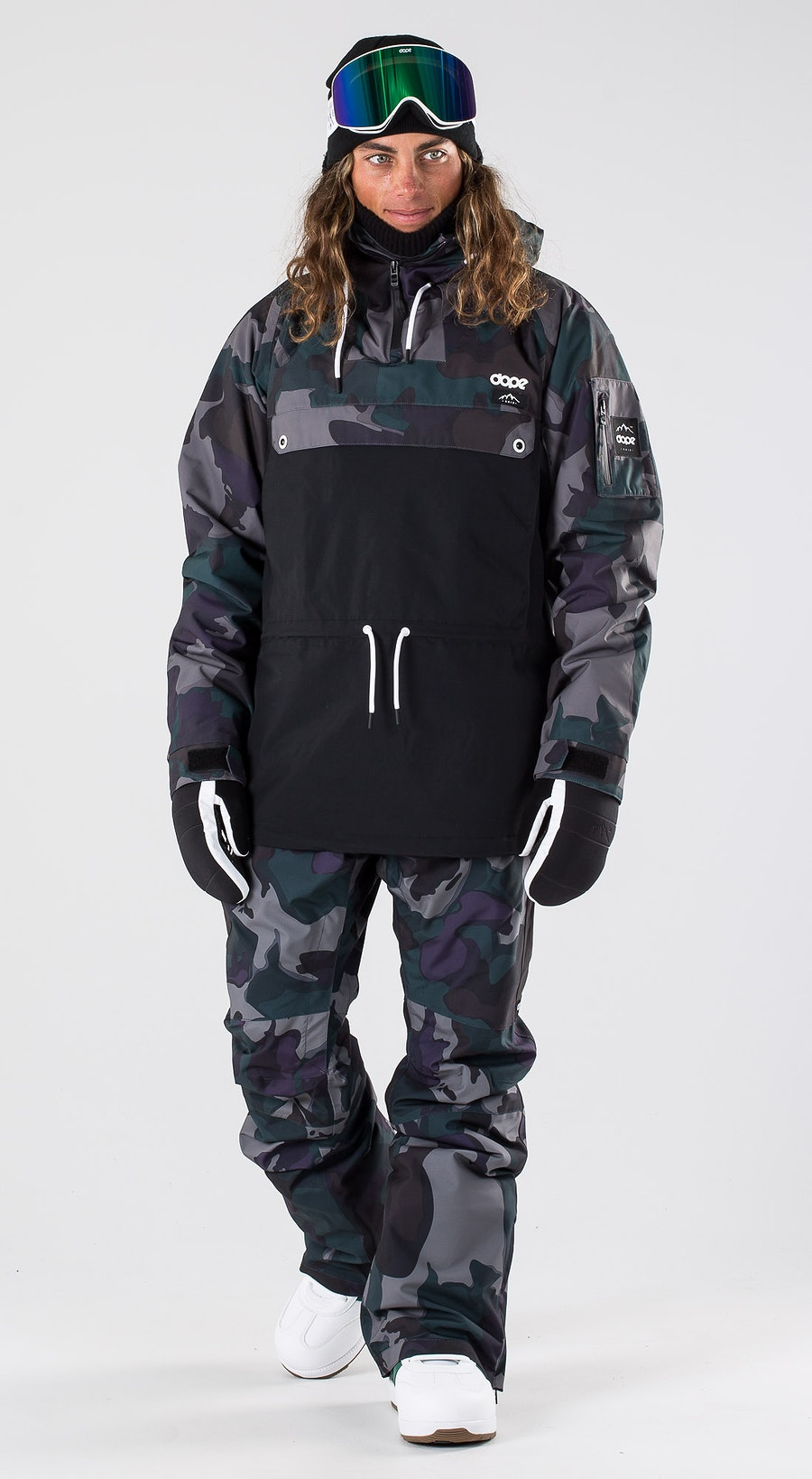 Dope Annok Grape Green Camo Snowboardkleidung Multi