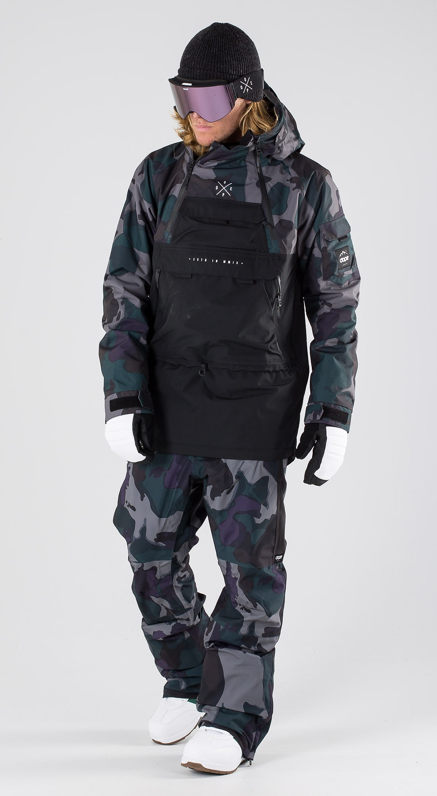 Dope Akin Grape Green Camo Snowboardkleidung Multi