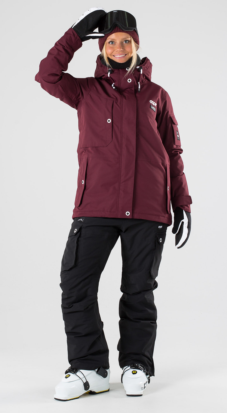 Dope Adept W Burgundy Skibekleidung Multi