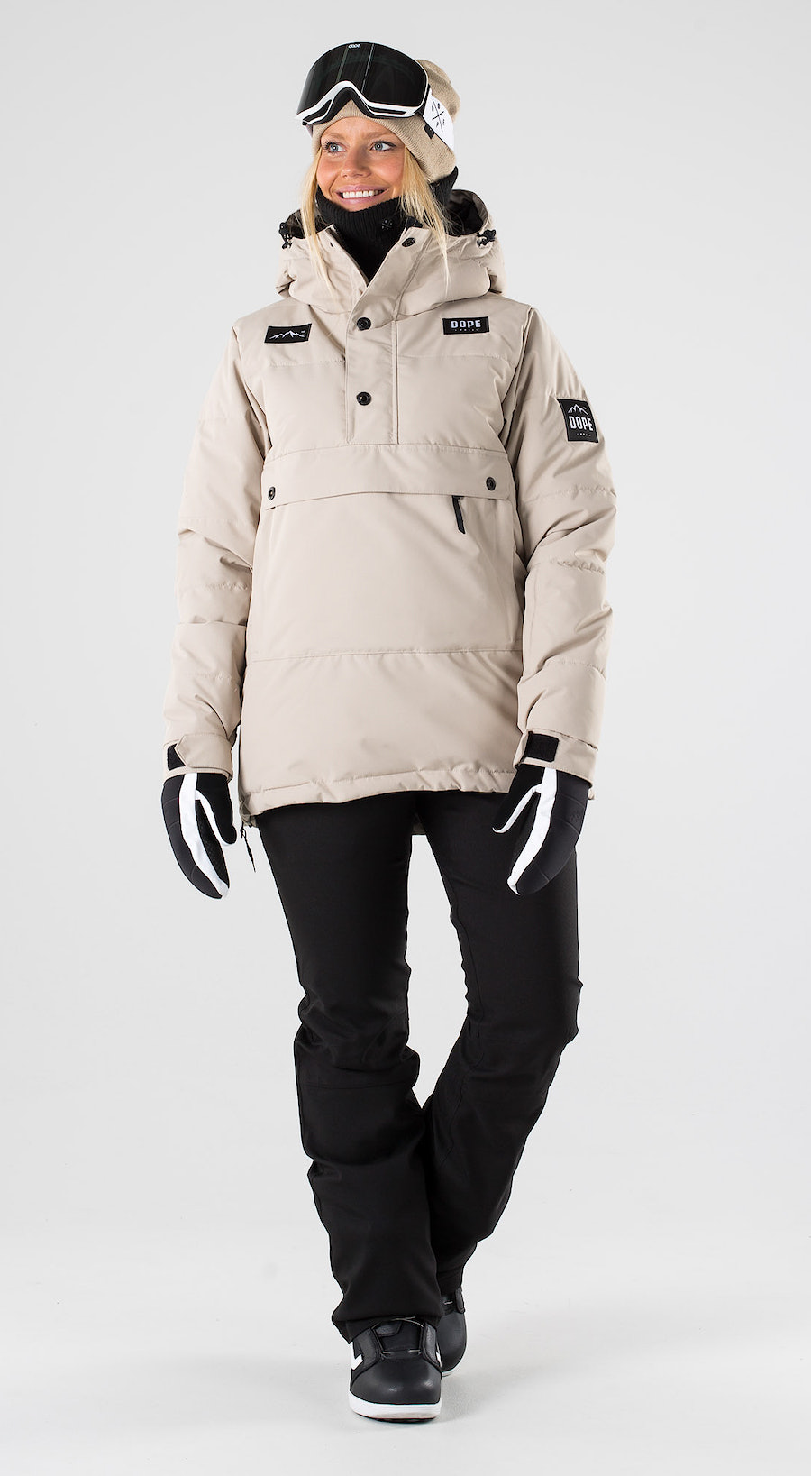 Dope Puffer W Sand Snowboardkleidung Multi