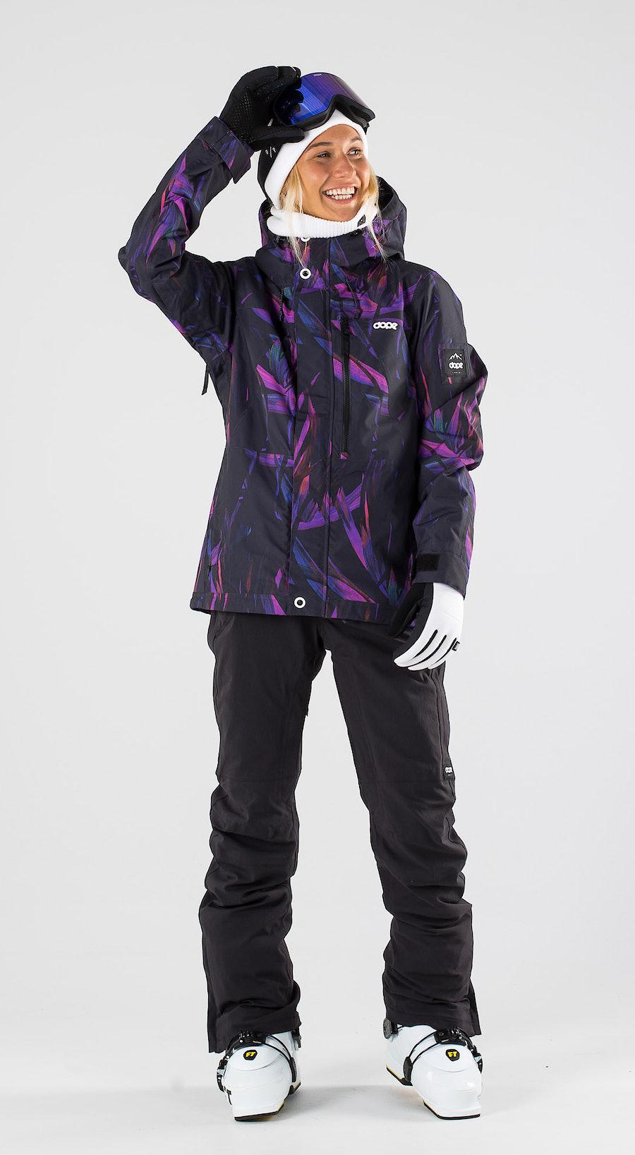 Dope Divine Purple Foliage Skibekleidung Multi