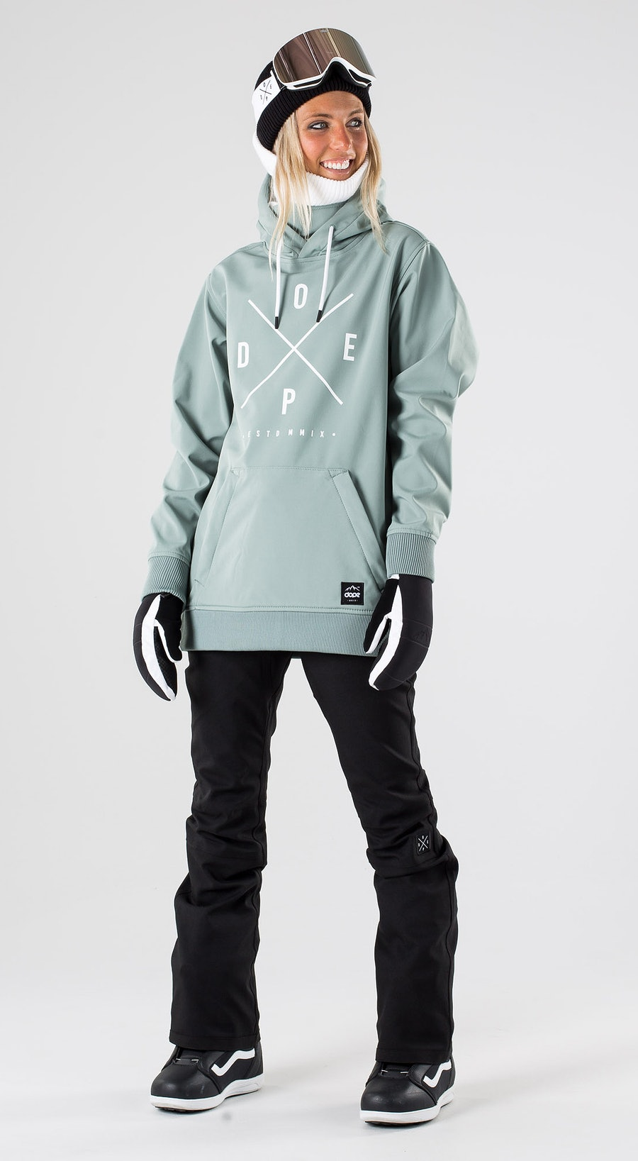 Dope Yeti W Faded Green Vêtements de Snowboard  Multi