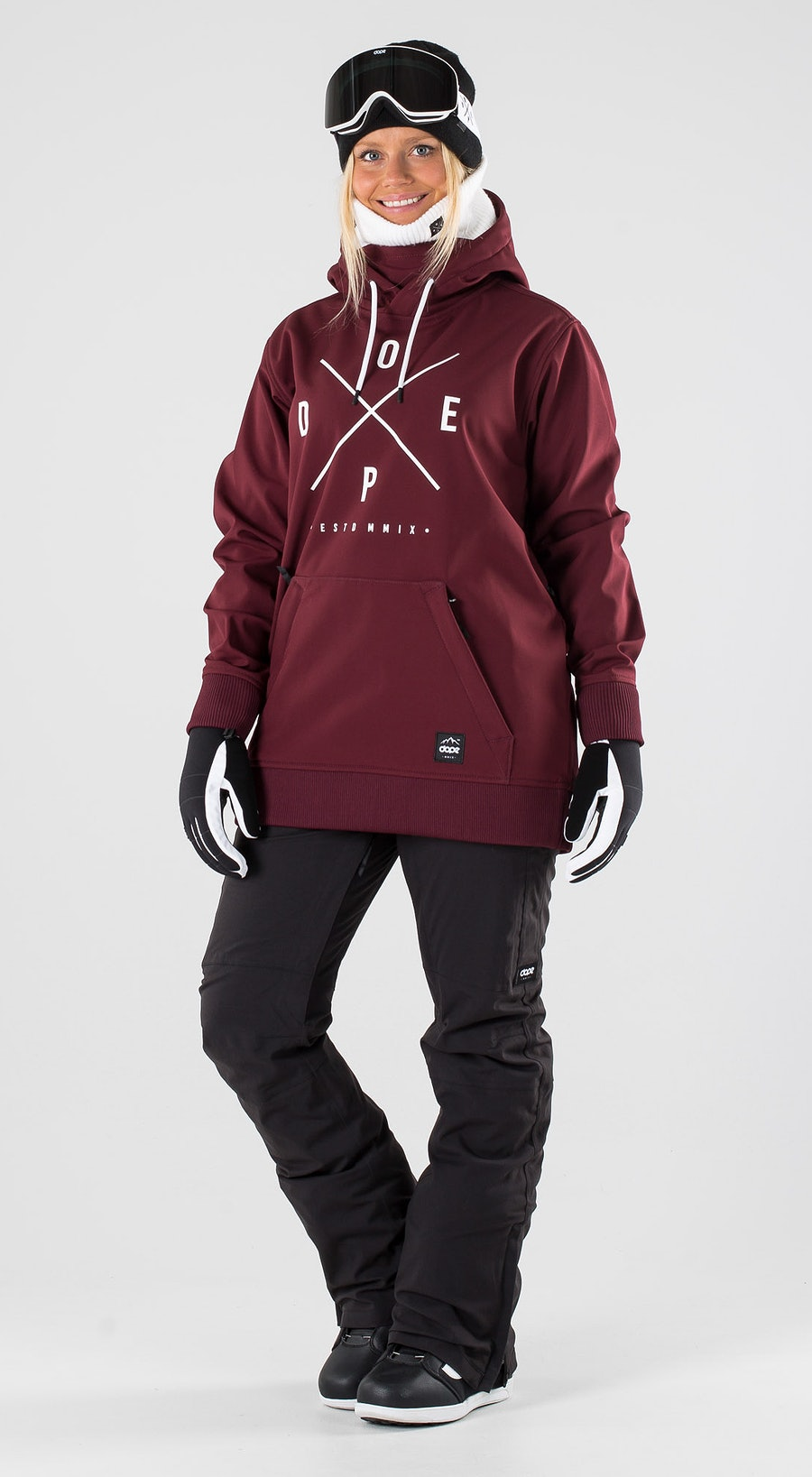 Dope Yeti W Burgundy Snowboard clothing Multi