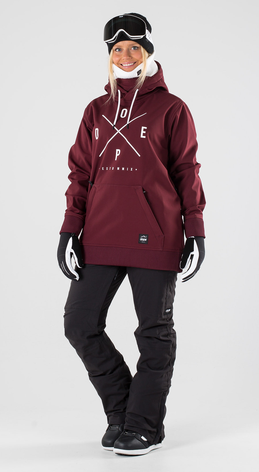 Dope Yeti W Burgundy Snowboard clothing Multi