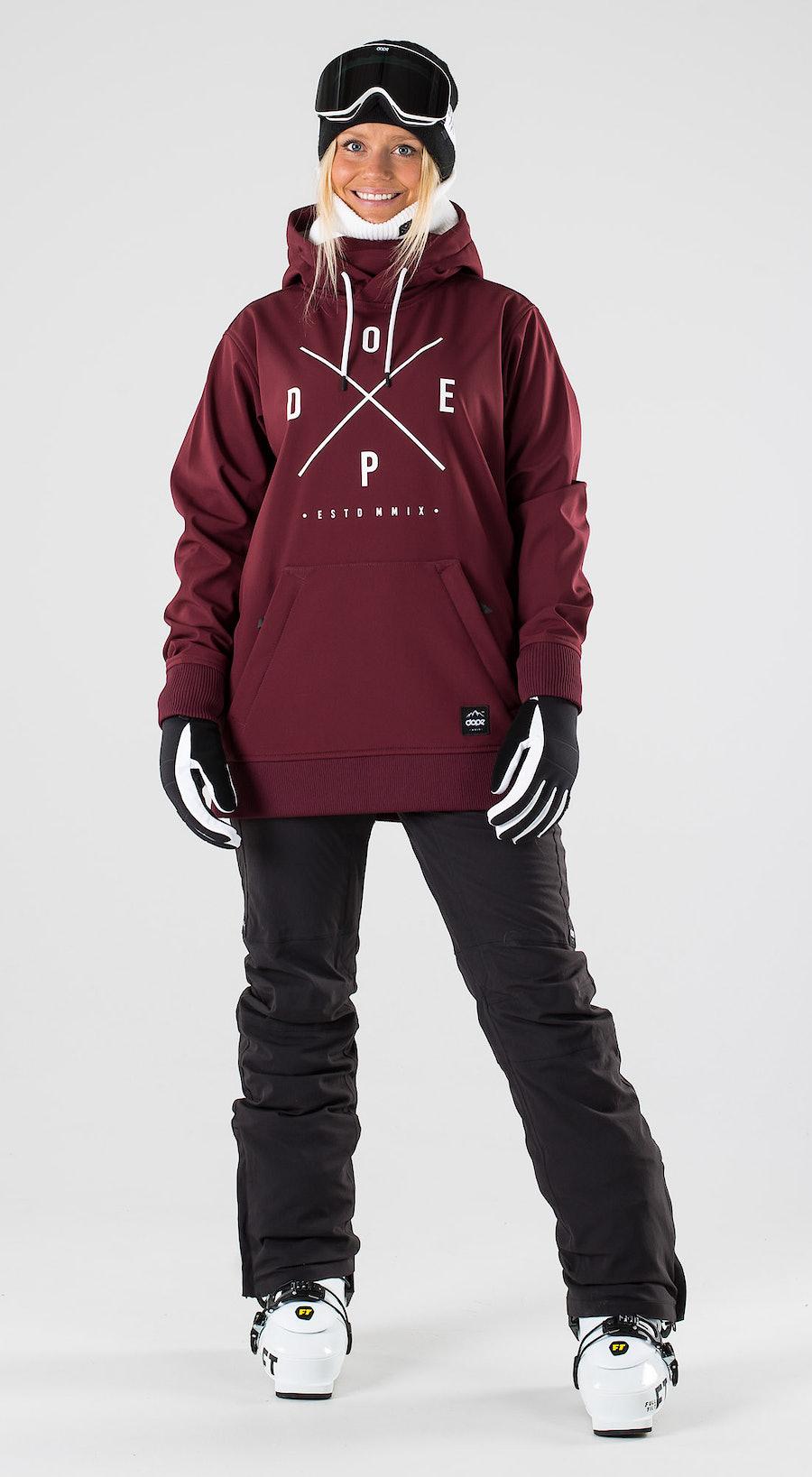 Dope Yeti W Burgundy Skibekleidung Multi