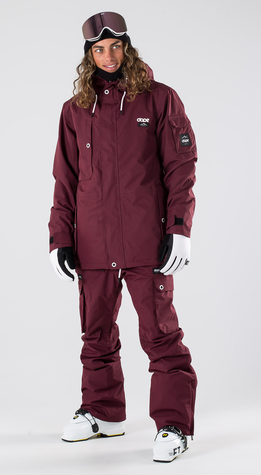 Dope Adept Burgundy Vêtements de ski Multi