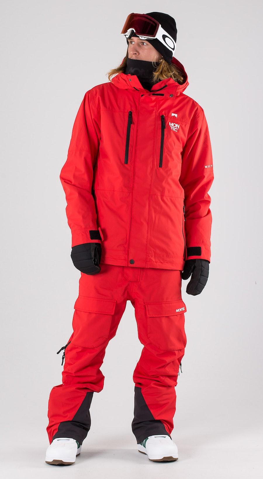 Montec Fawk Red Snowboardkläder Multi