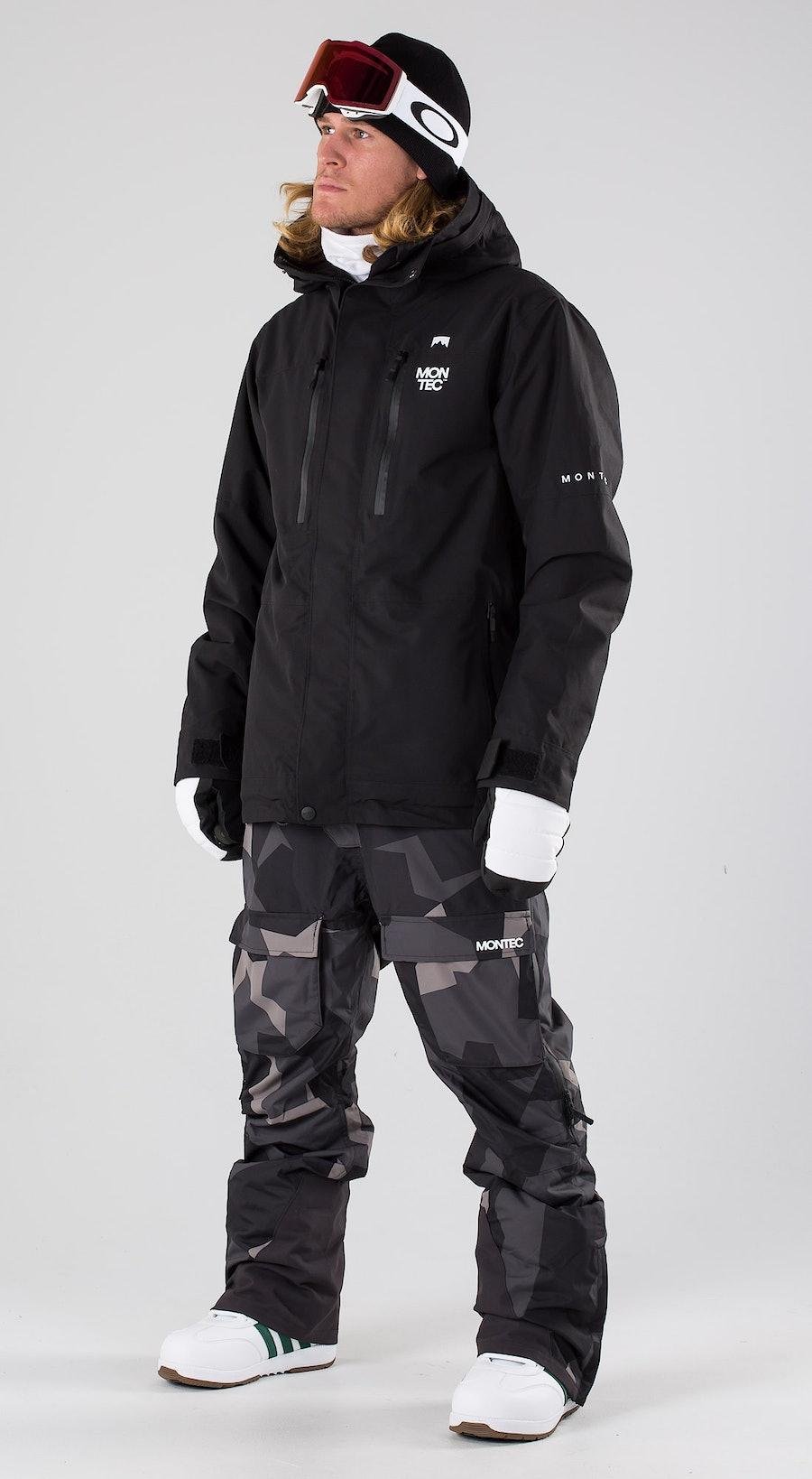 Montec Fawk Black Snowboardkläder Multi