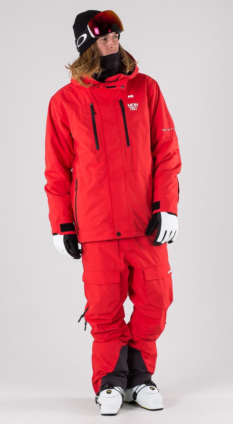 Montec Fawk Red Vêtements de ski Multi