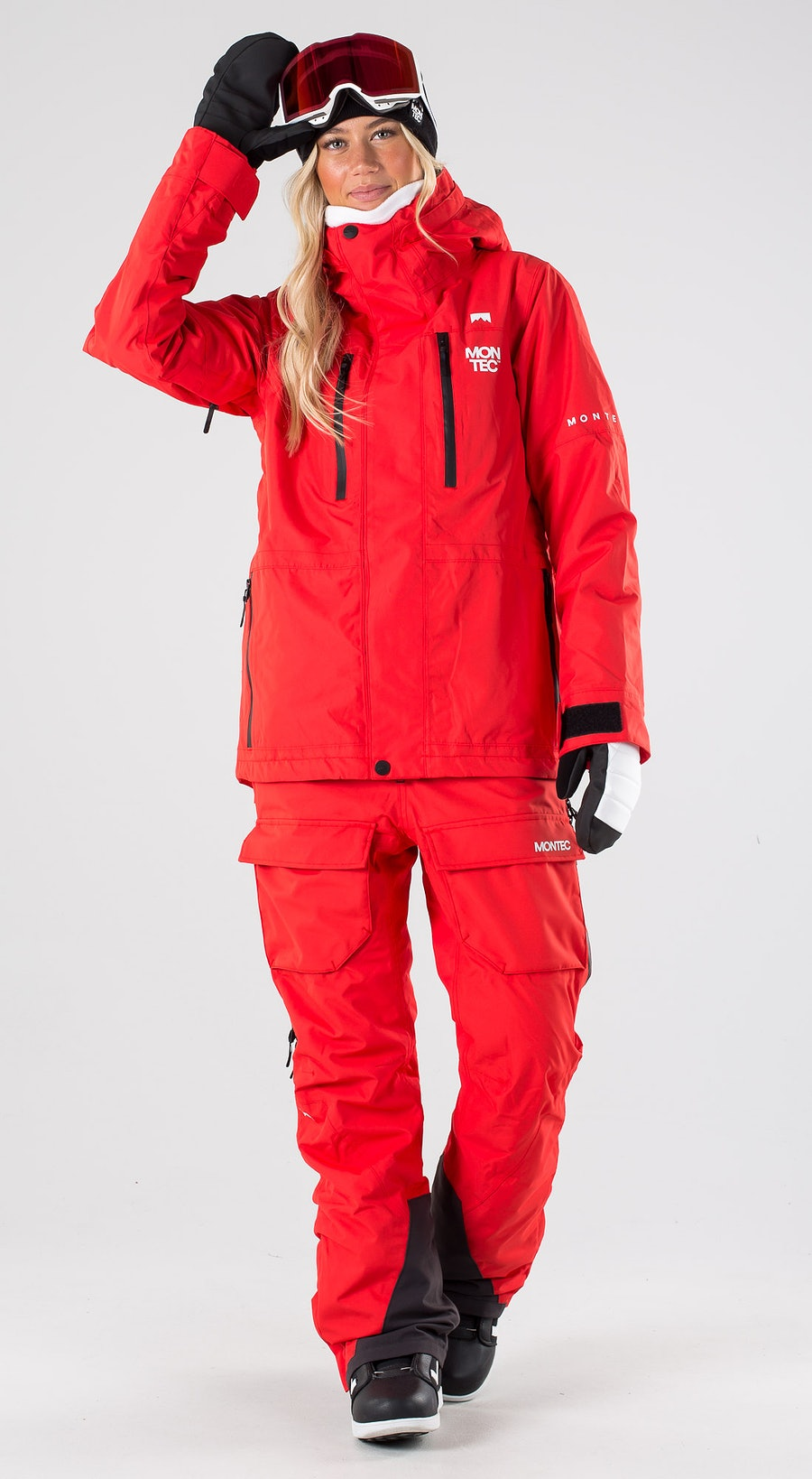 Montec Fawk W Red Snowboardkleidung Multi