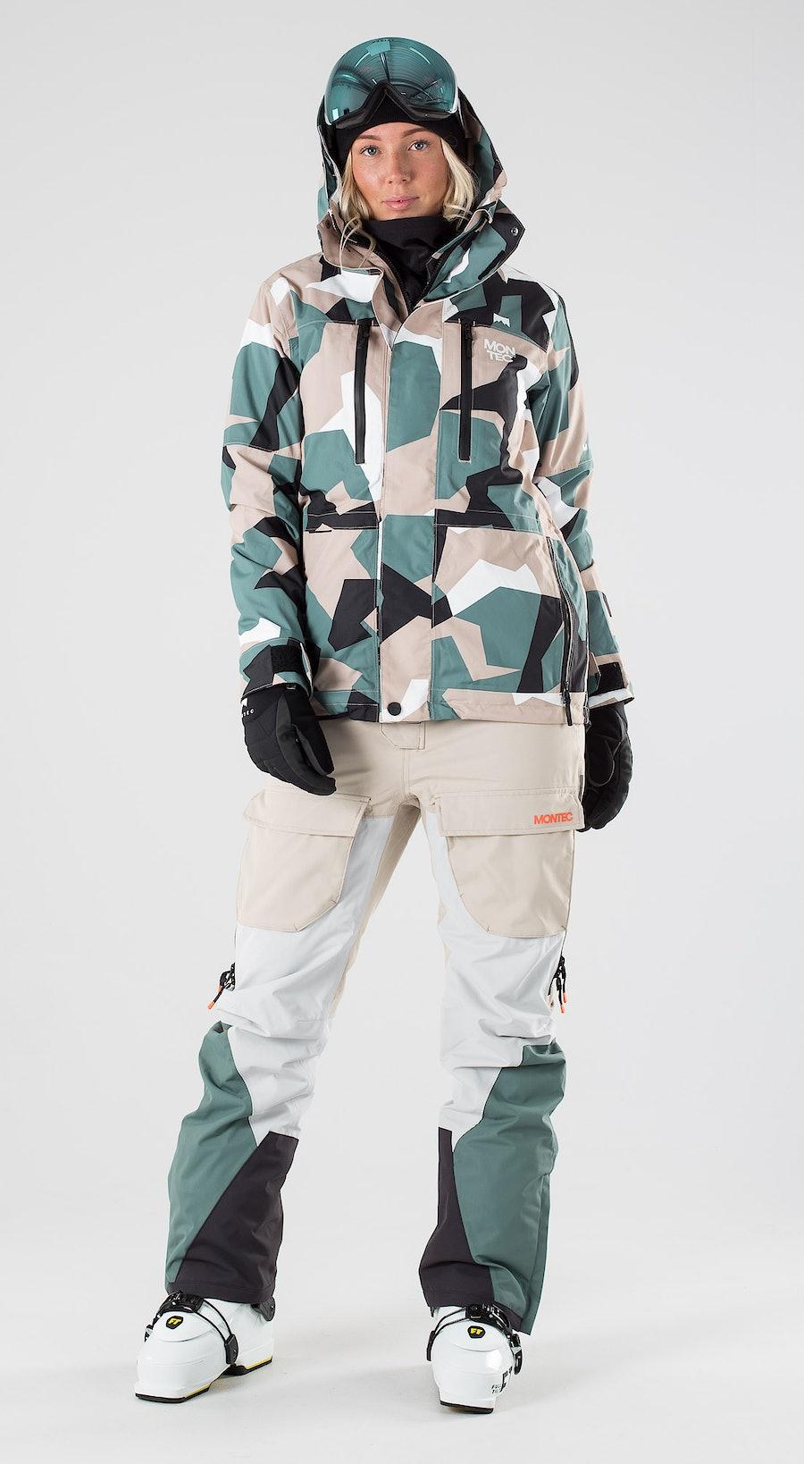 Montec Fawk W Atlantic Camo Abbigliamento da sci Multi