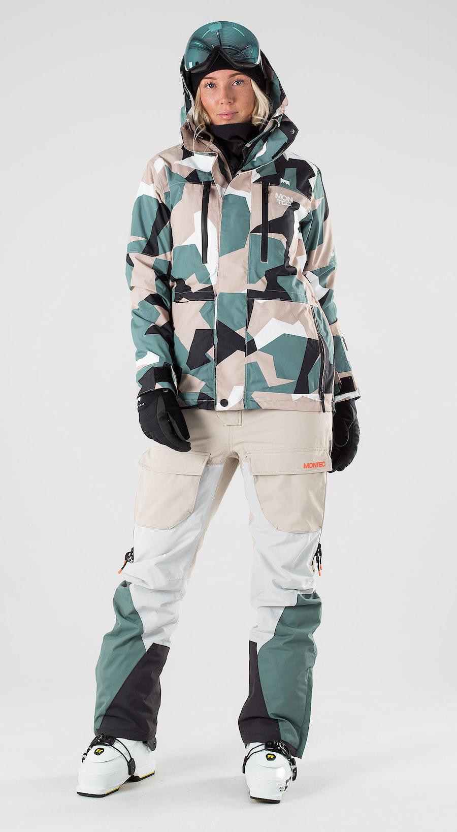 Montec Fawk W Atlantic Camo Skibekleidung Multi