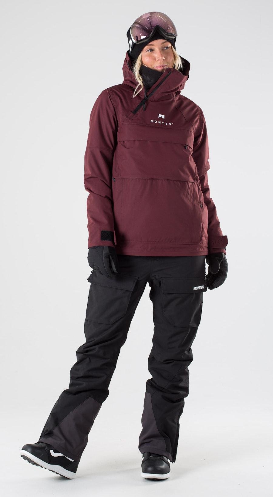 Montec Dune W Burgundy Snowboardkläder Multi