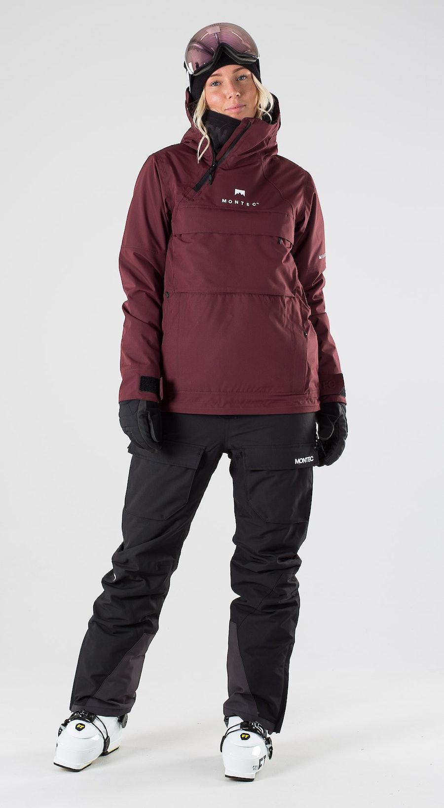 Montec Dune W Burgundy Abbigliamento da sci Multi