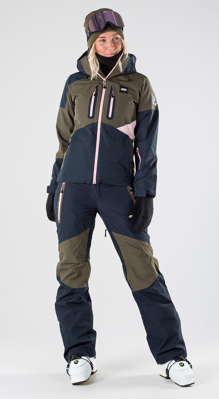 Picture Seen Dark Army Green Ski clothing Multi