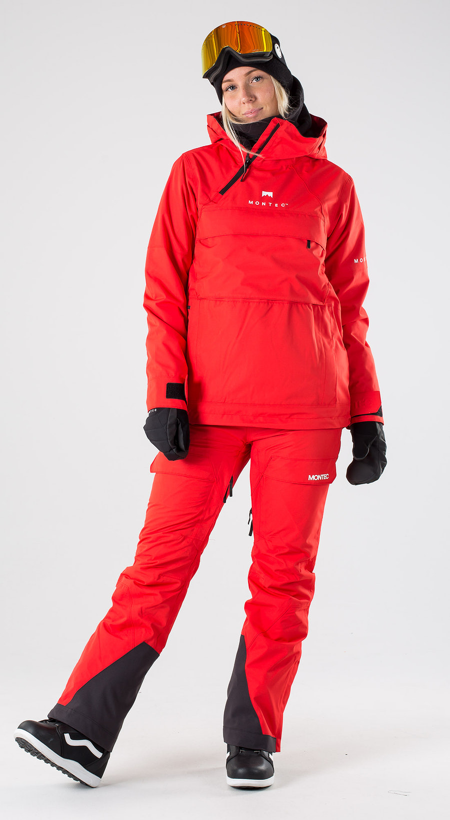 Montec Dune W Red Snowboard clothing Multi