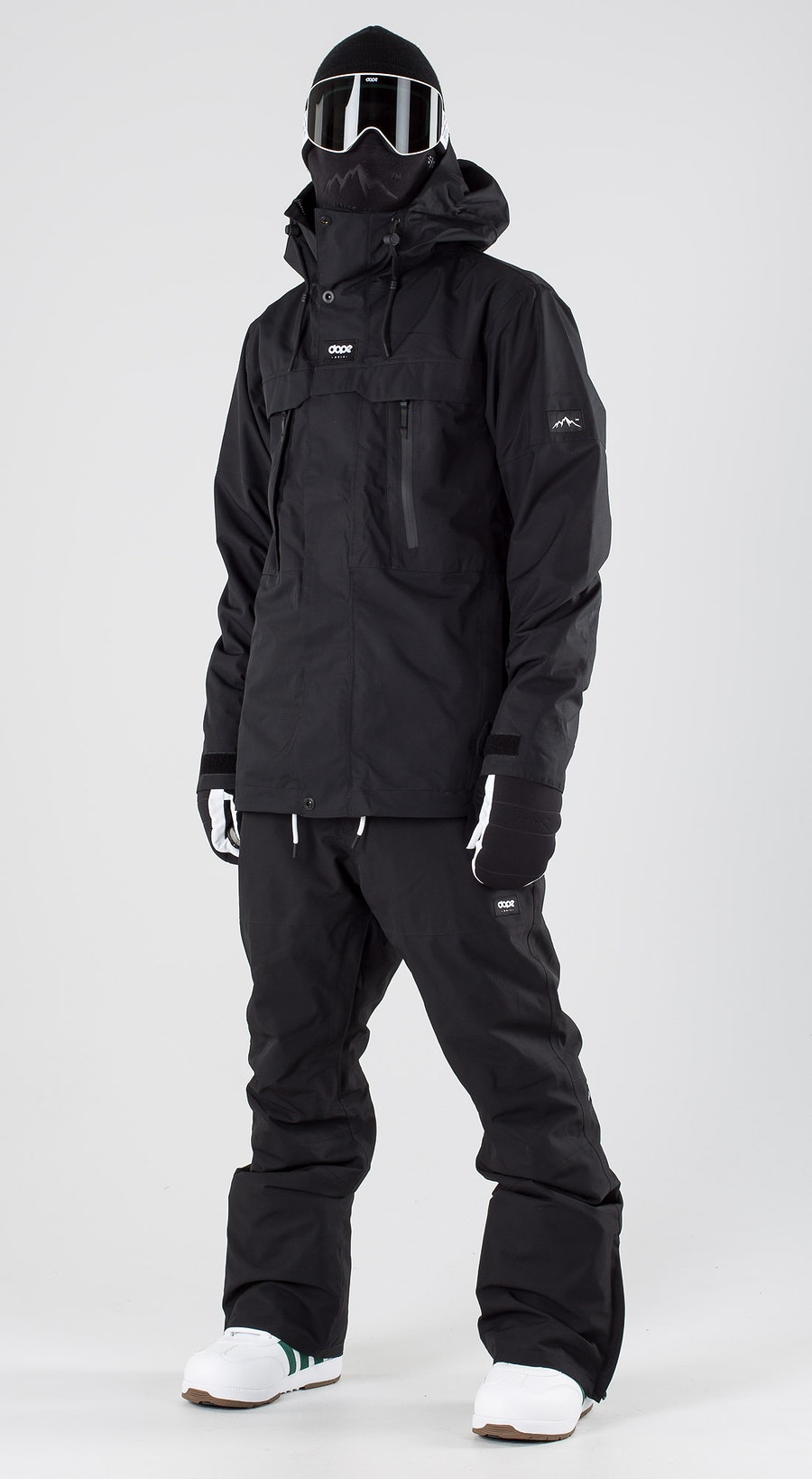 Dope Lunar Black Snowboard clothing Multi