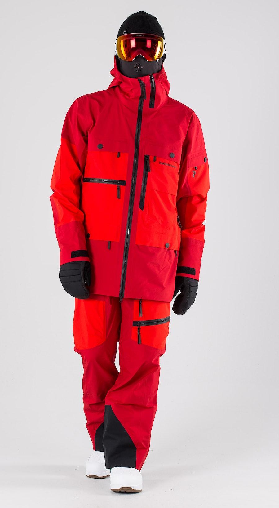 Peak Performance Vertical Dark Chilli Snowboardkläder Multi