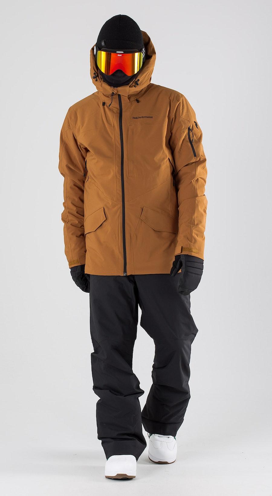 Peak Performance Maroon Long Honey Brown Snowboardkläder Multi