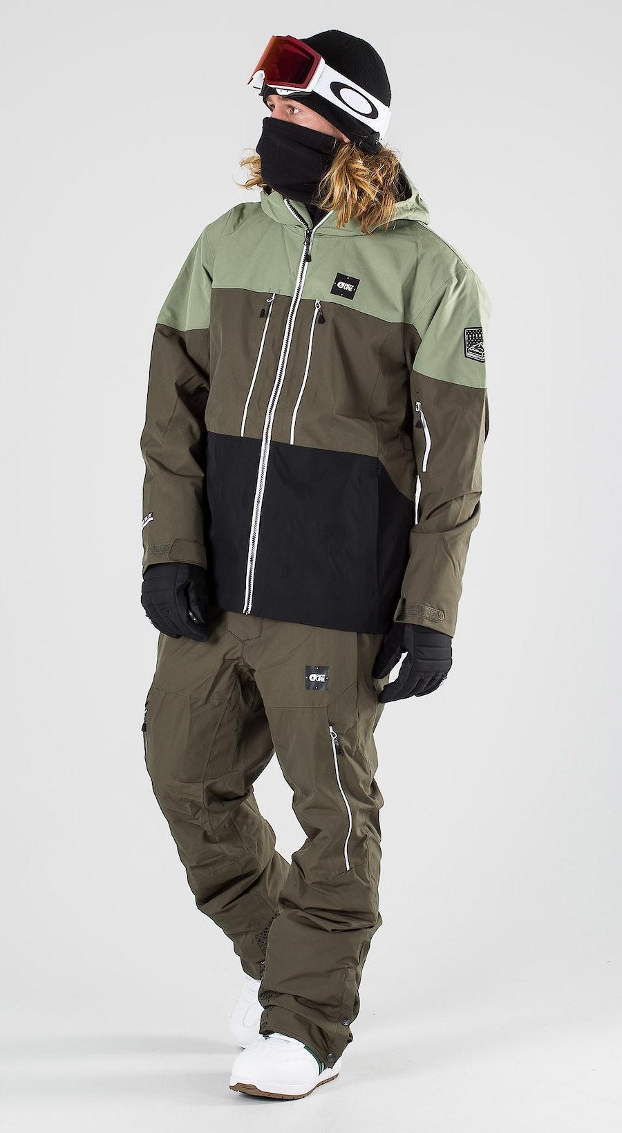 Picture Object Dark Army Green Snowboardkläder Multi