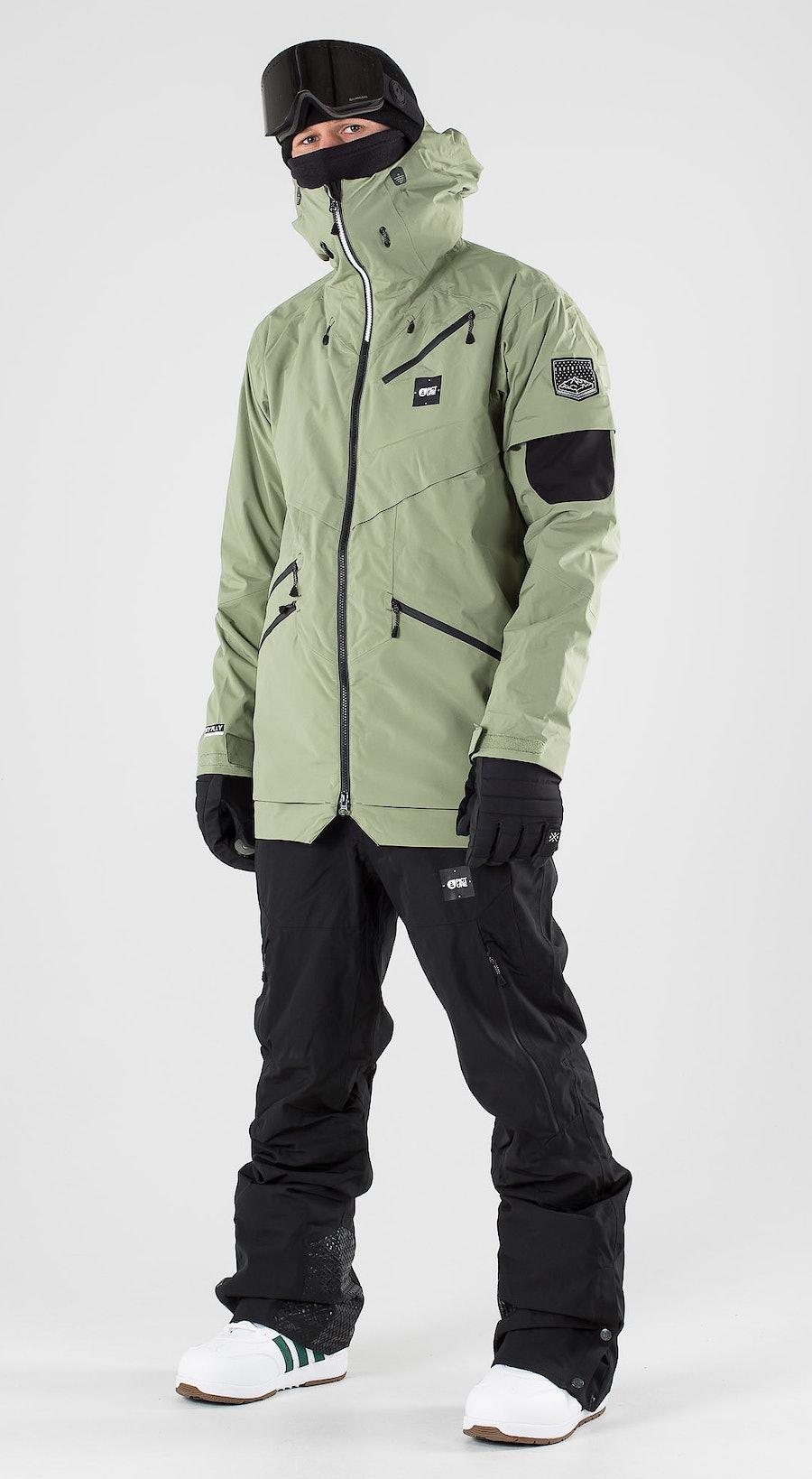 Picture Zephir Army Green Vêtements de snowboard  Multi