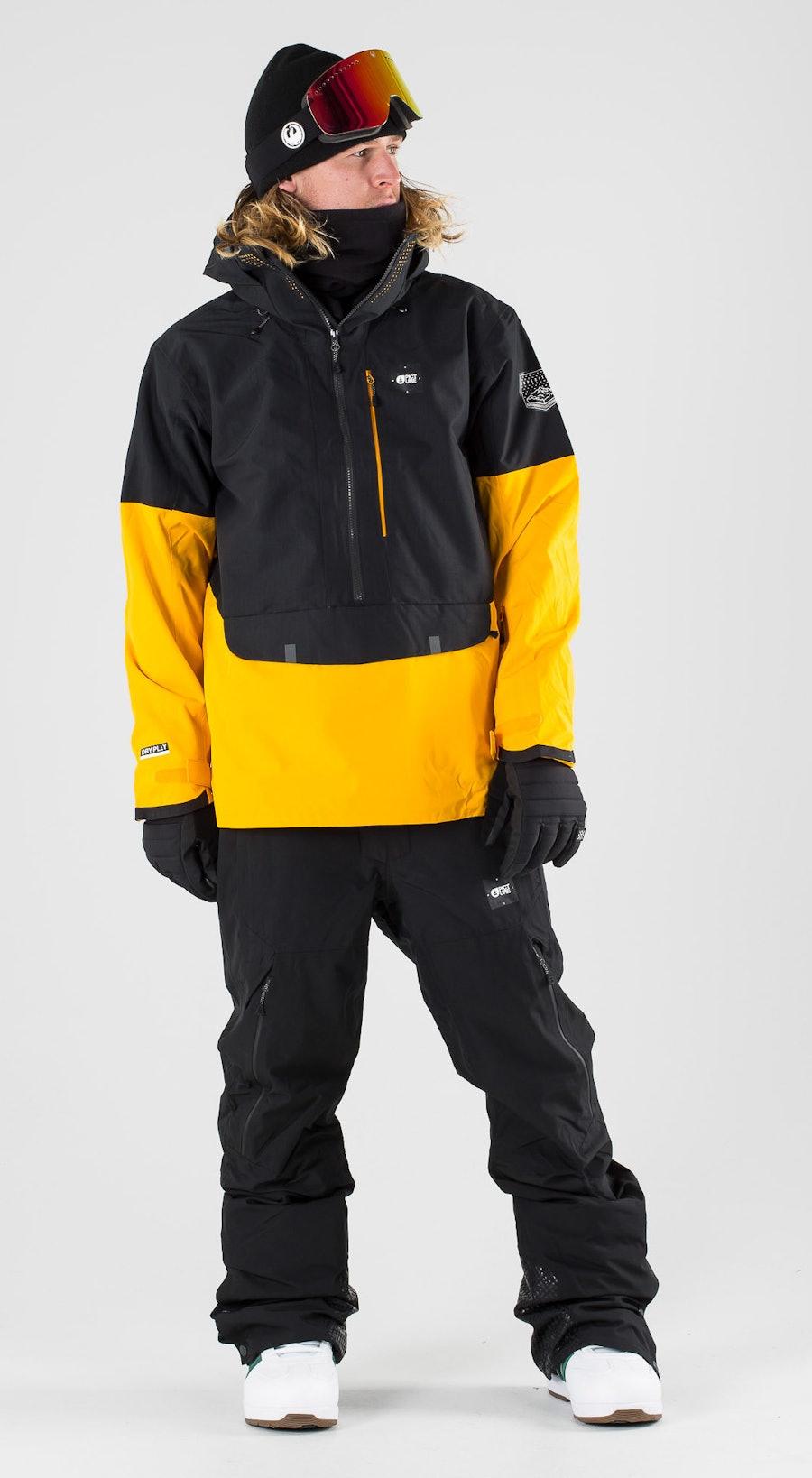 Picture Anton Black Yellow Snowboardkläder Multi