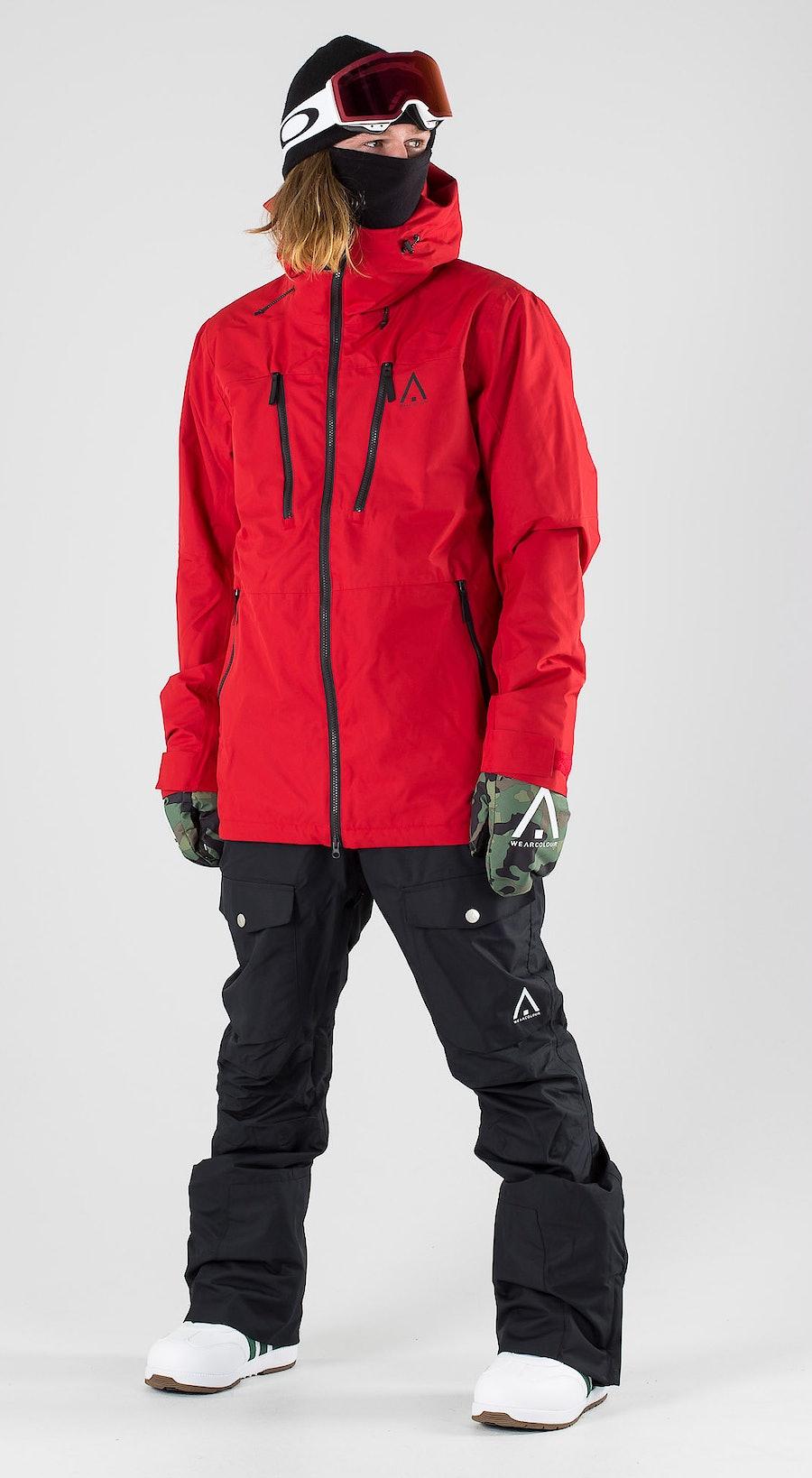 WearColour Grid Falu Red Snowboardkläder Multi