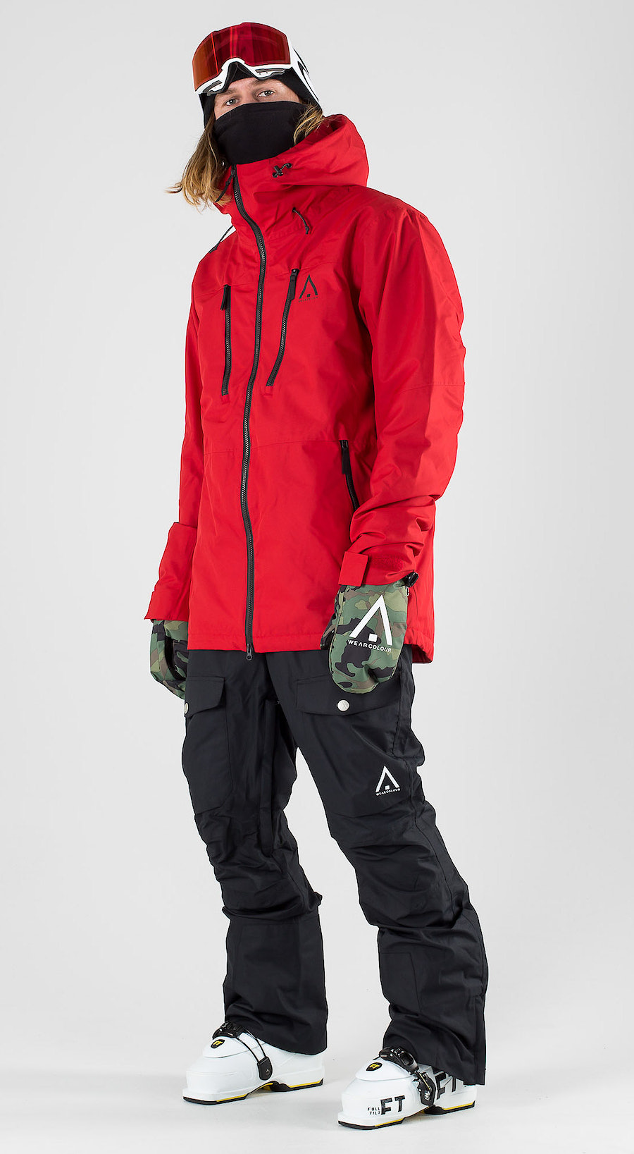 WearColour Grid Falu Red Ski clothing Multi