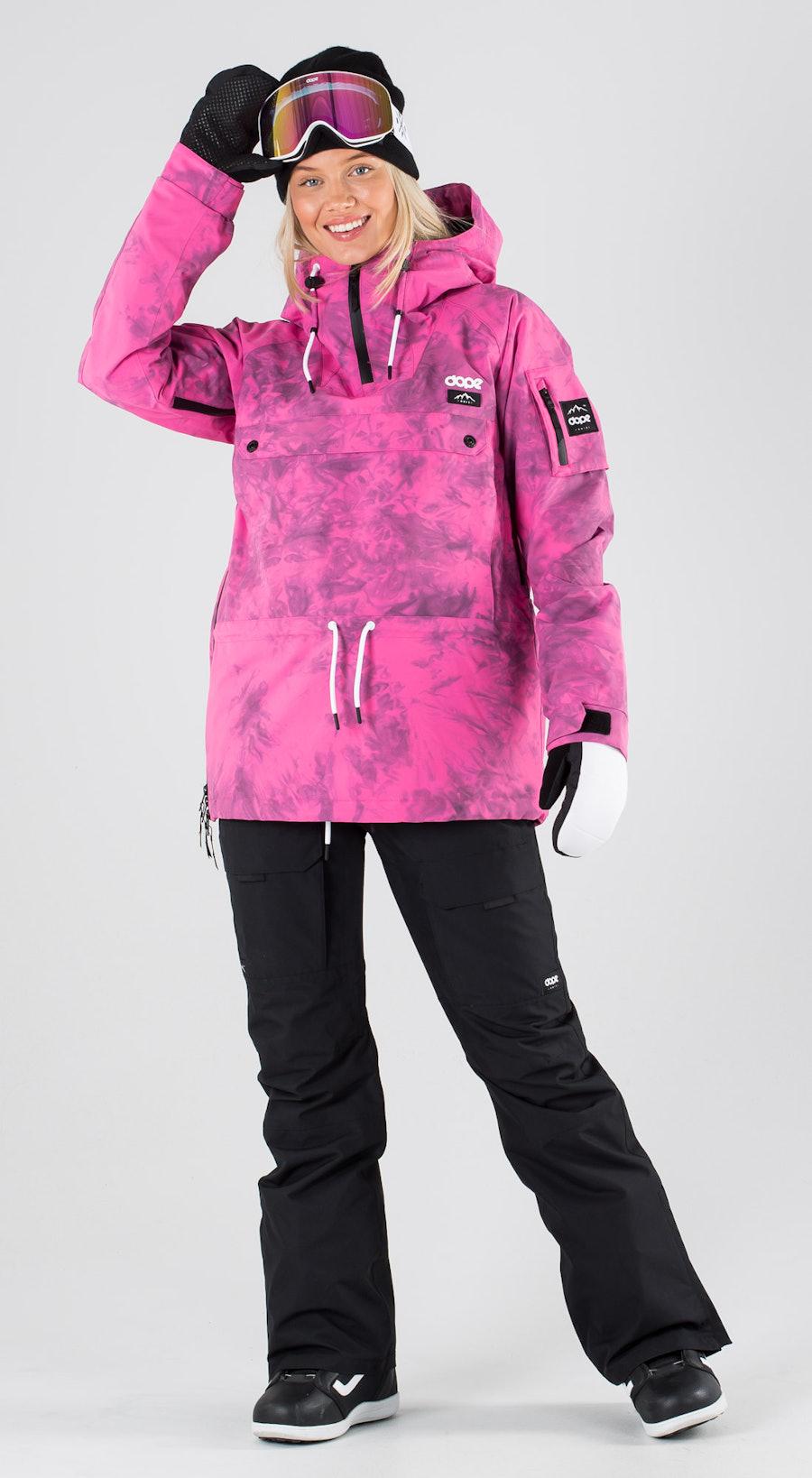 Dope Annok Women Pink Tiedye Snowboardkläder Multi