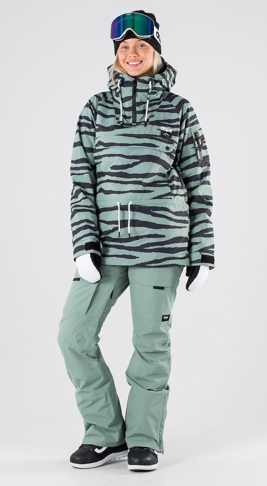 Dope Annok W Green Zebra Abbigliamento da snowboard Multi