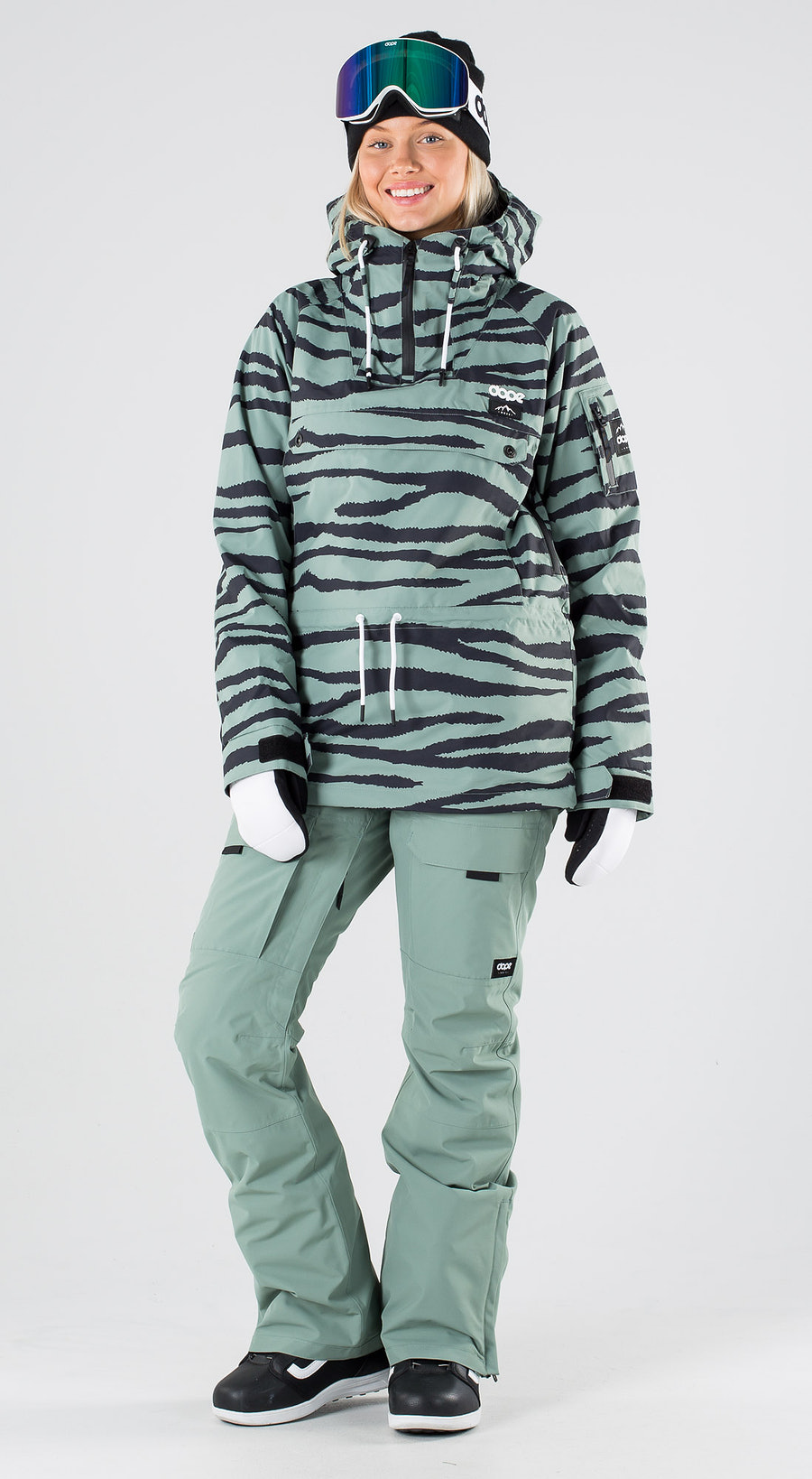 Dope Annok W Green Zebra Snowboardkläder Multi