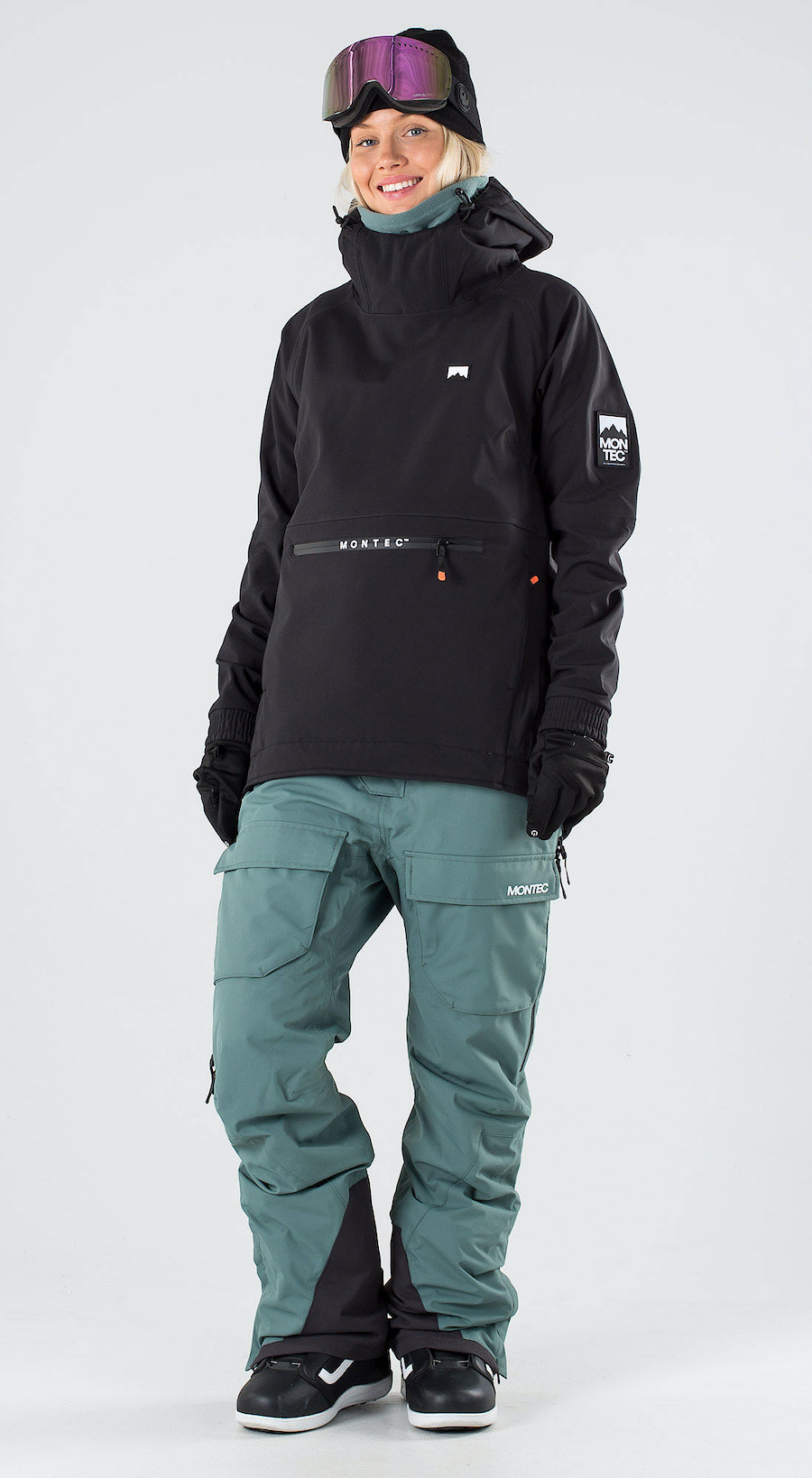 Montec Tempest W Black Snowboard clothing Multi