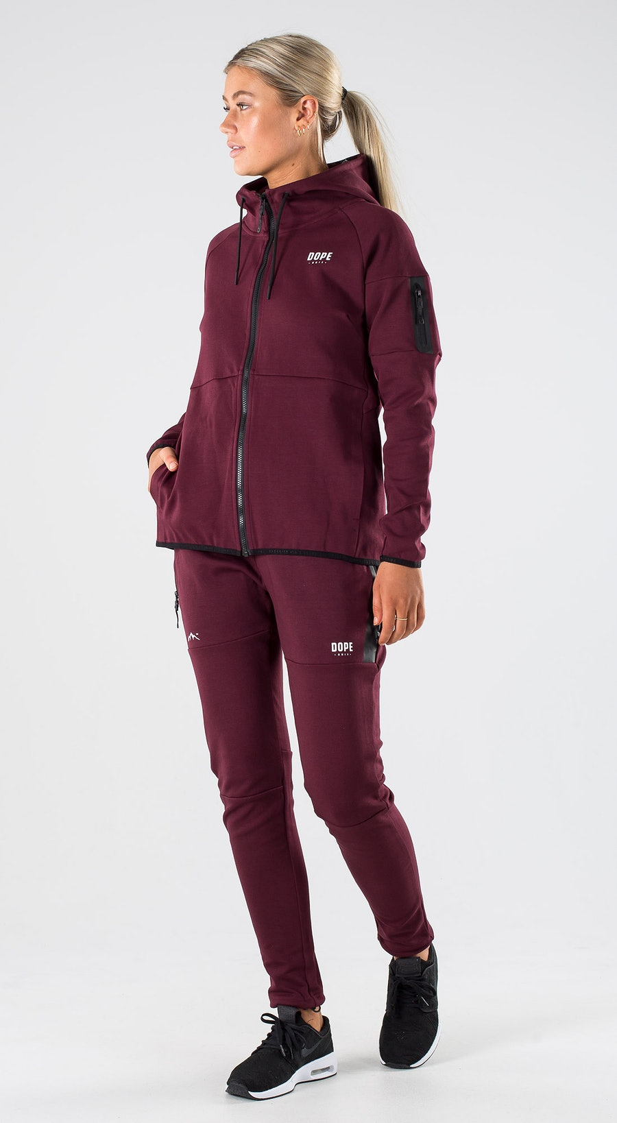 Dope Ronin Zip W Burgundy Outfit Multi