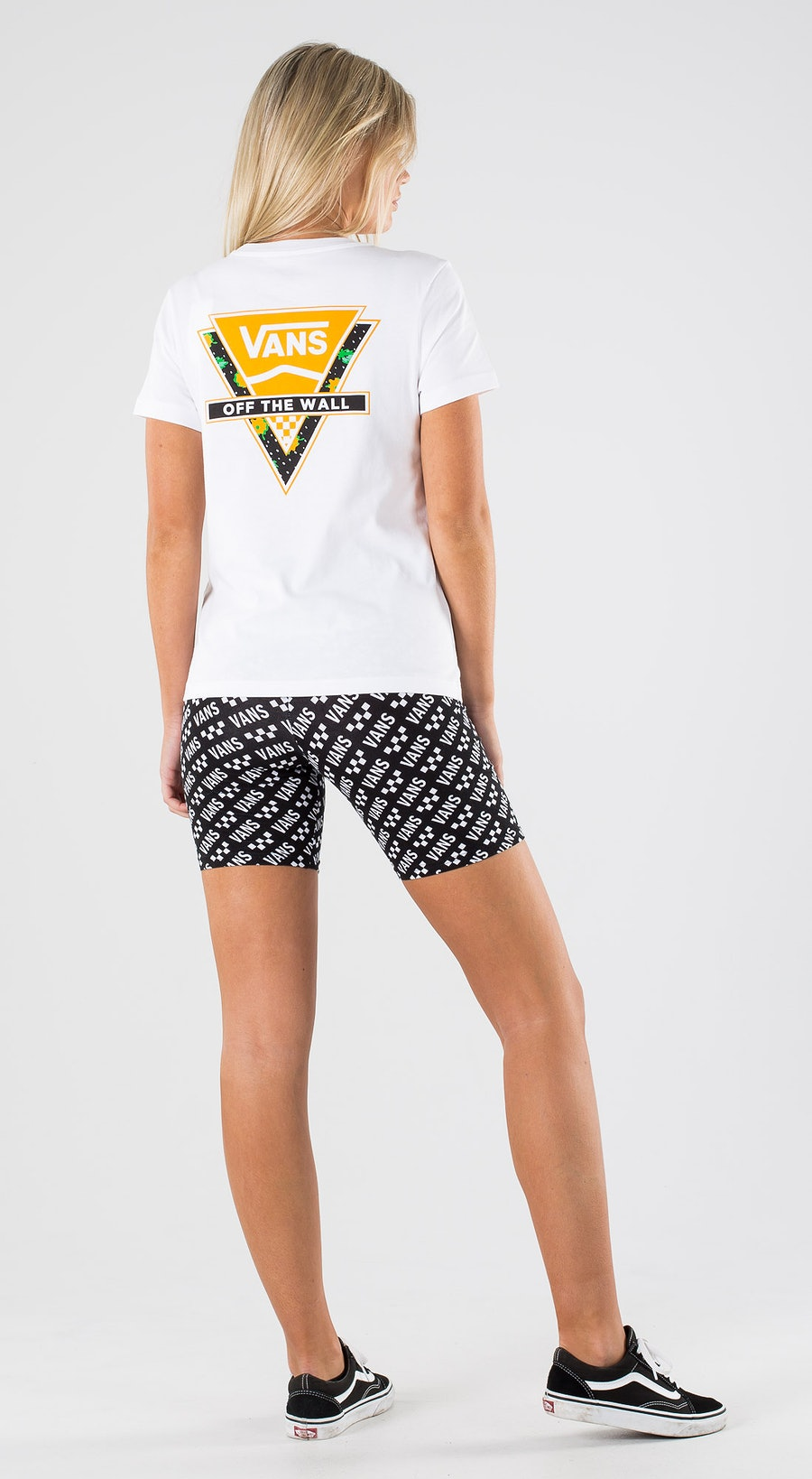 Vans Polka Ditsy Triangle White Outfit Multi