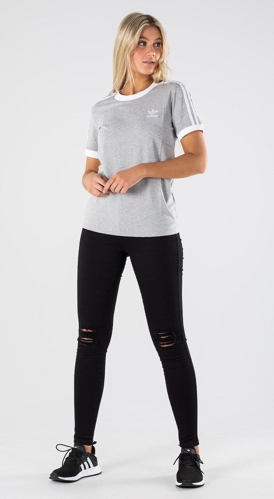 Adidas Originals 3 Str Tee Medium Grey Heather Outfit Multi