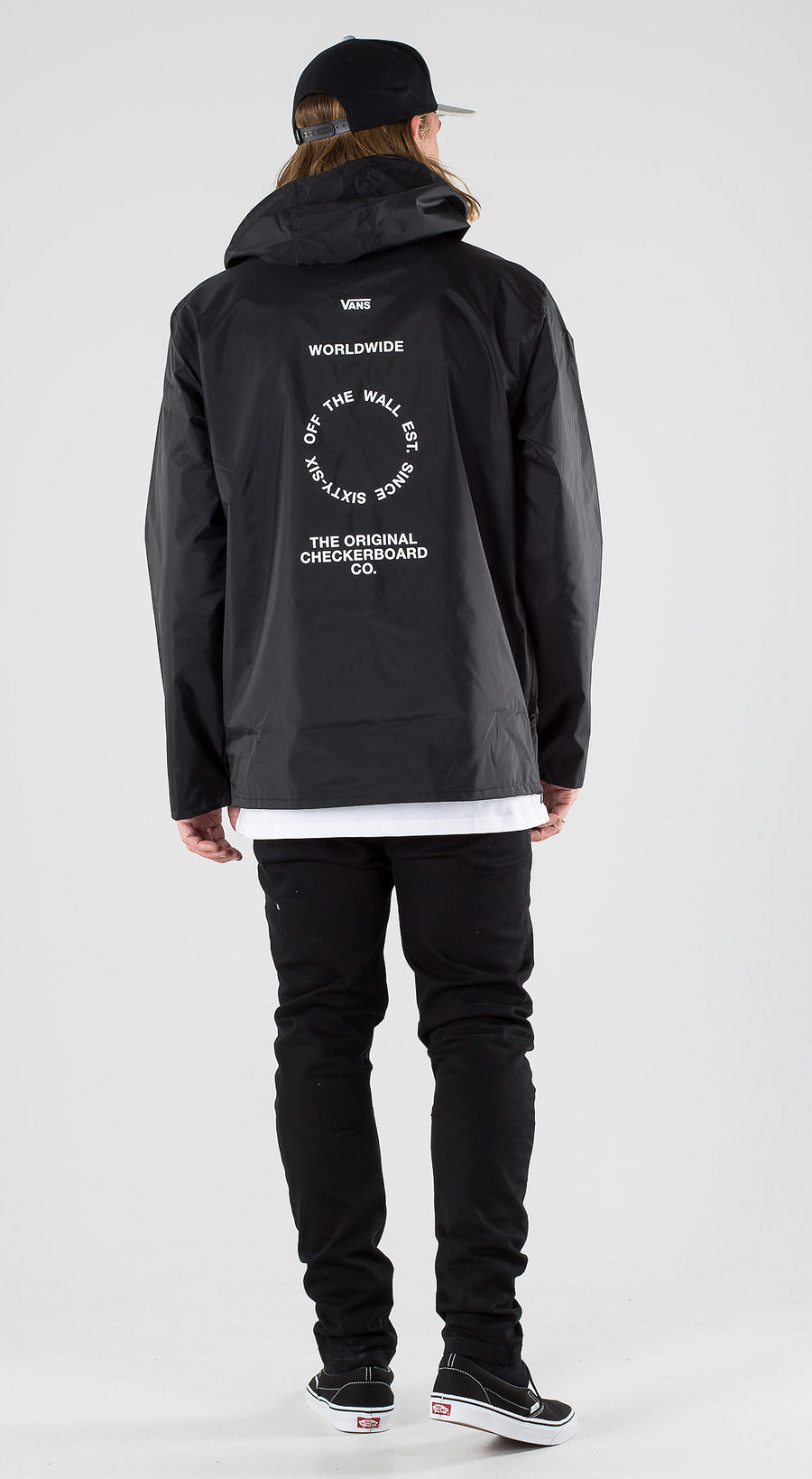 Vans Distort Type Anorak Black Outfit Multi