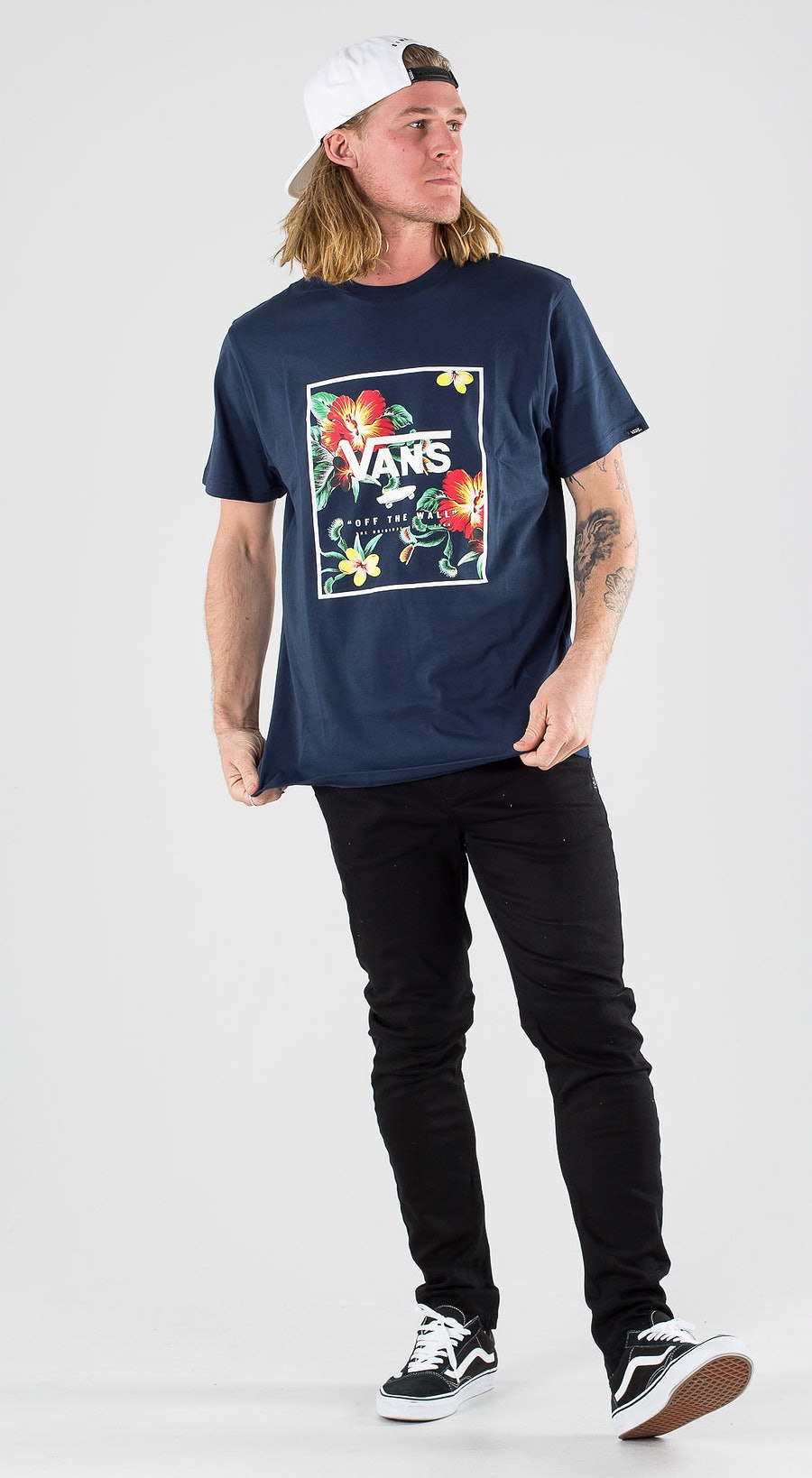 Vans Print Box SS Dress Blue Trap Floral Outfit Multi