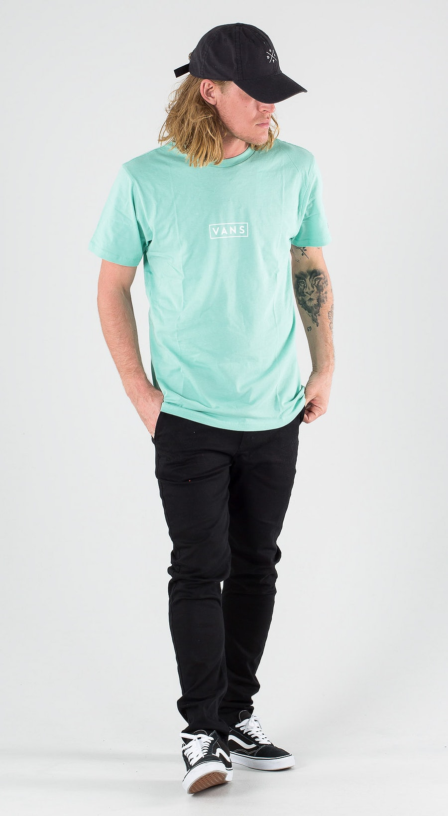 Vans Easy Box SS Dusty Jade Green Outfit Multi