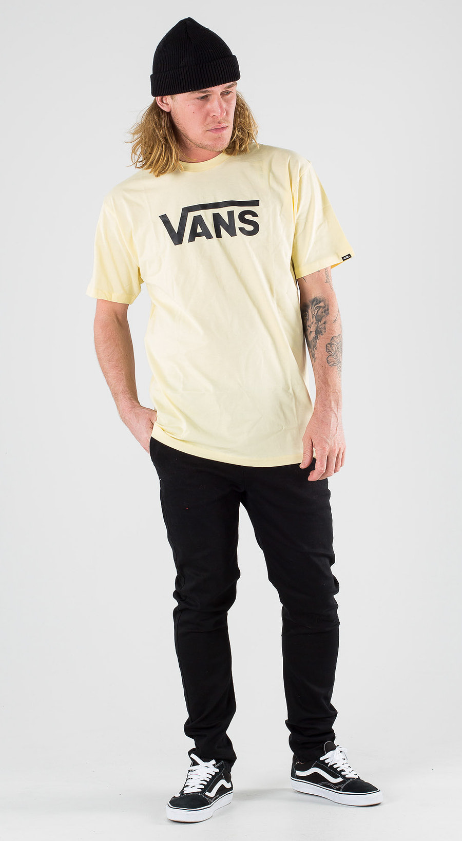 Vans Classic Double Cream Black Outfit Multi