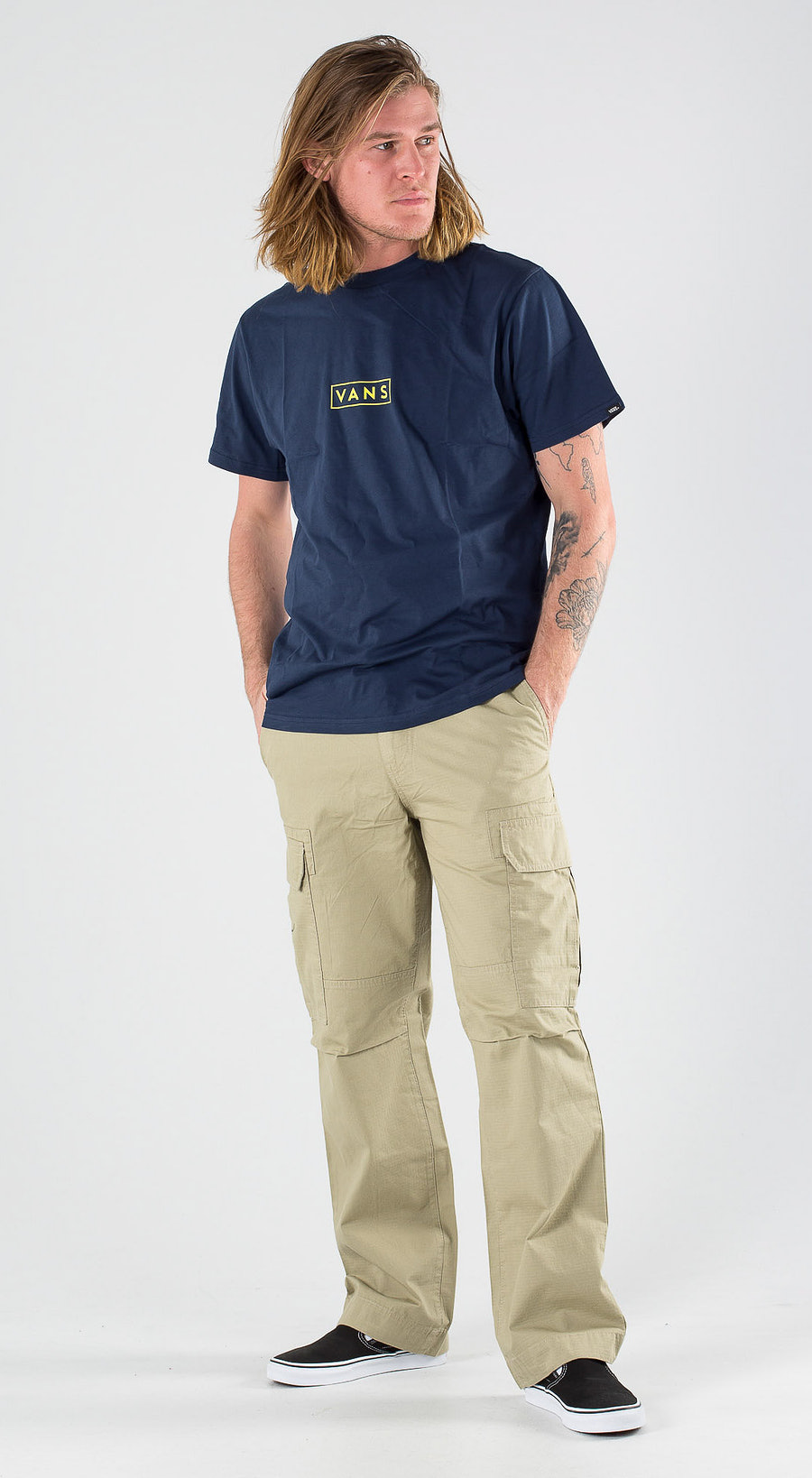 Vans Easy Box SS Dress Blues Sulphur Spring Outfit Multi