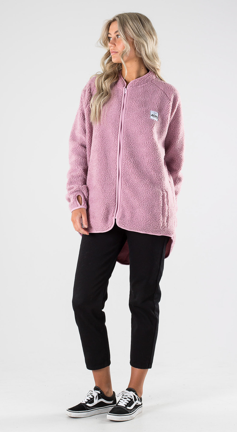 Eivy Redwood Sherpa Jacket Faded Pink Outfit Multi