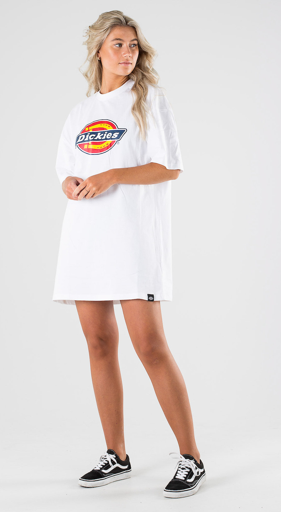 Dickies Varnell Tshirt Dress White Outfit Multi