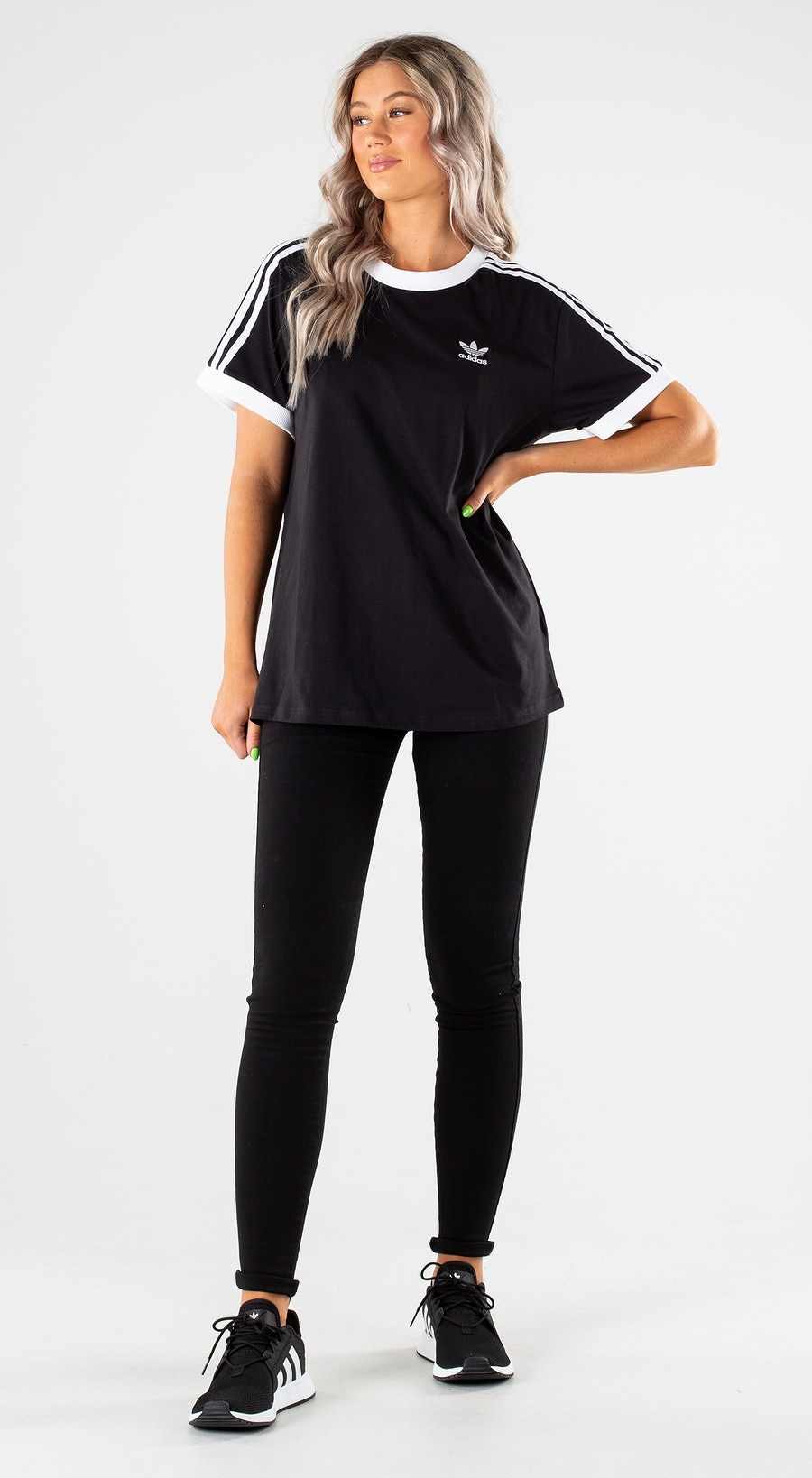Adidas Originals 3 Stripes Black Outfit Multi