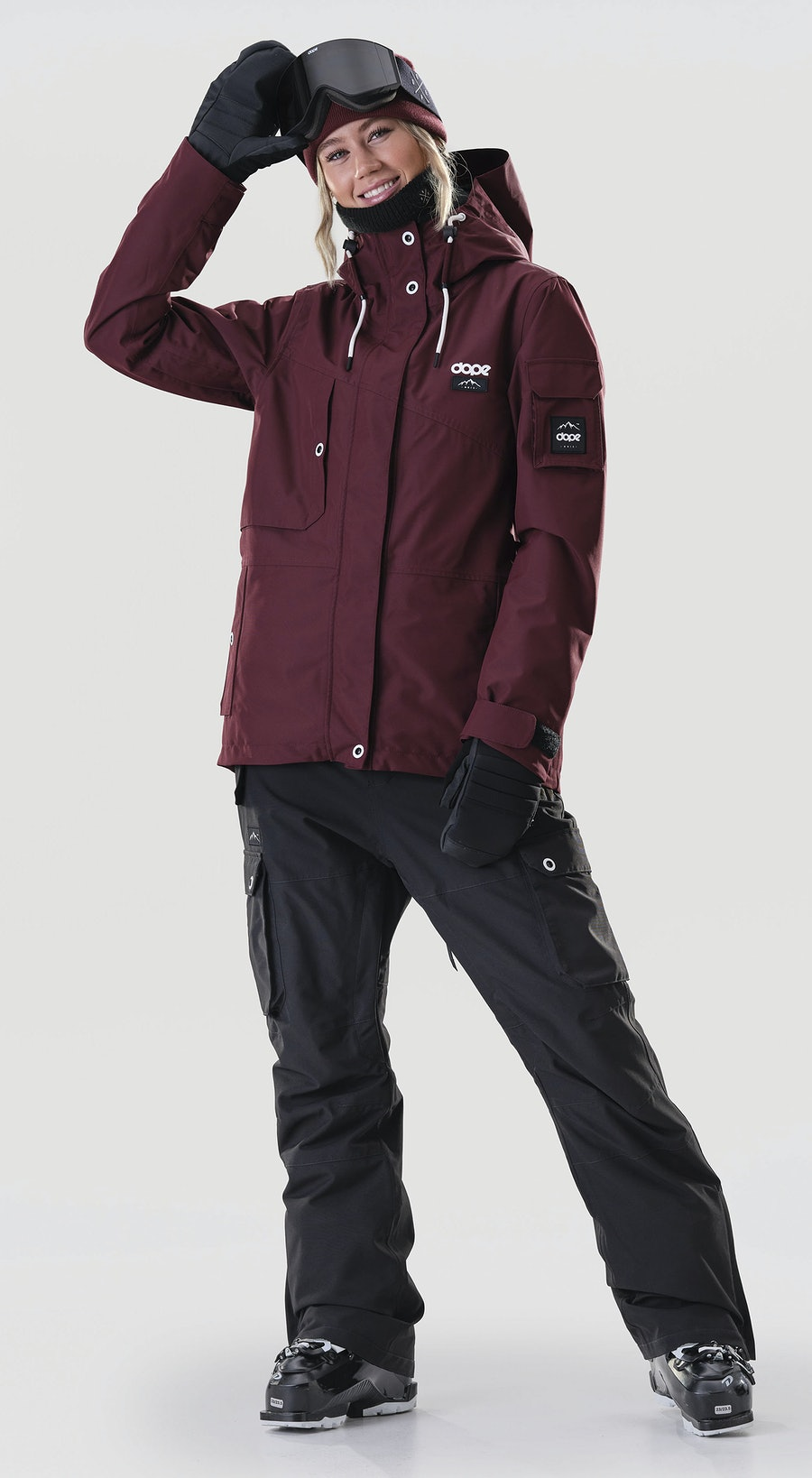Dope Adept W Burgundy Ski Clothing Multi