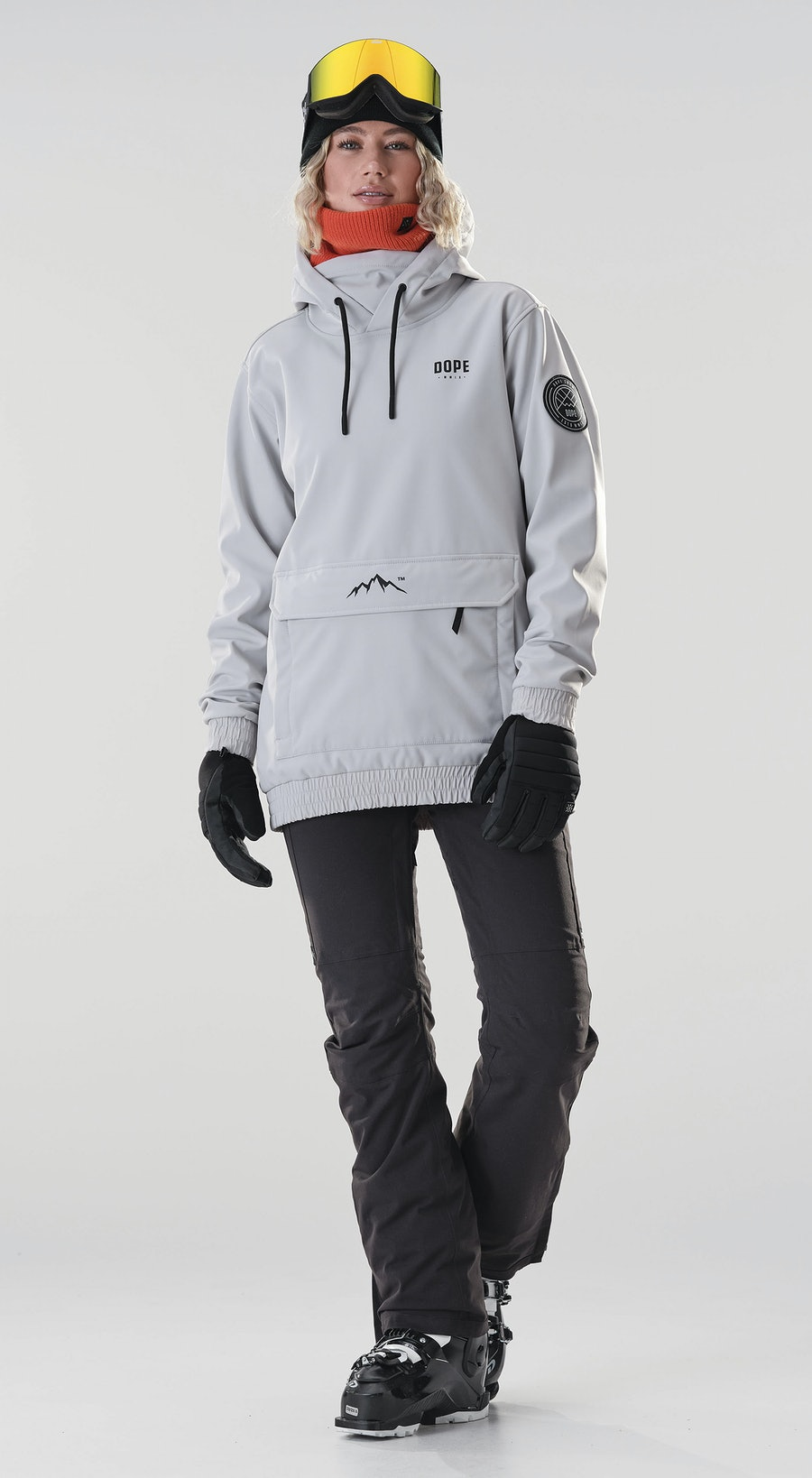 Dope Wylie Capital W Light Grey Vêtements de Ski Multi