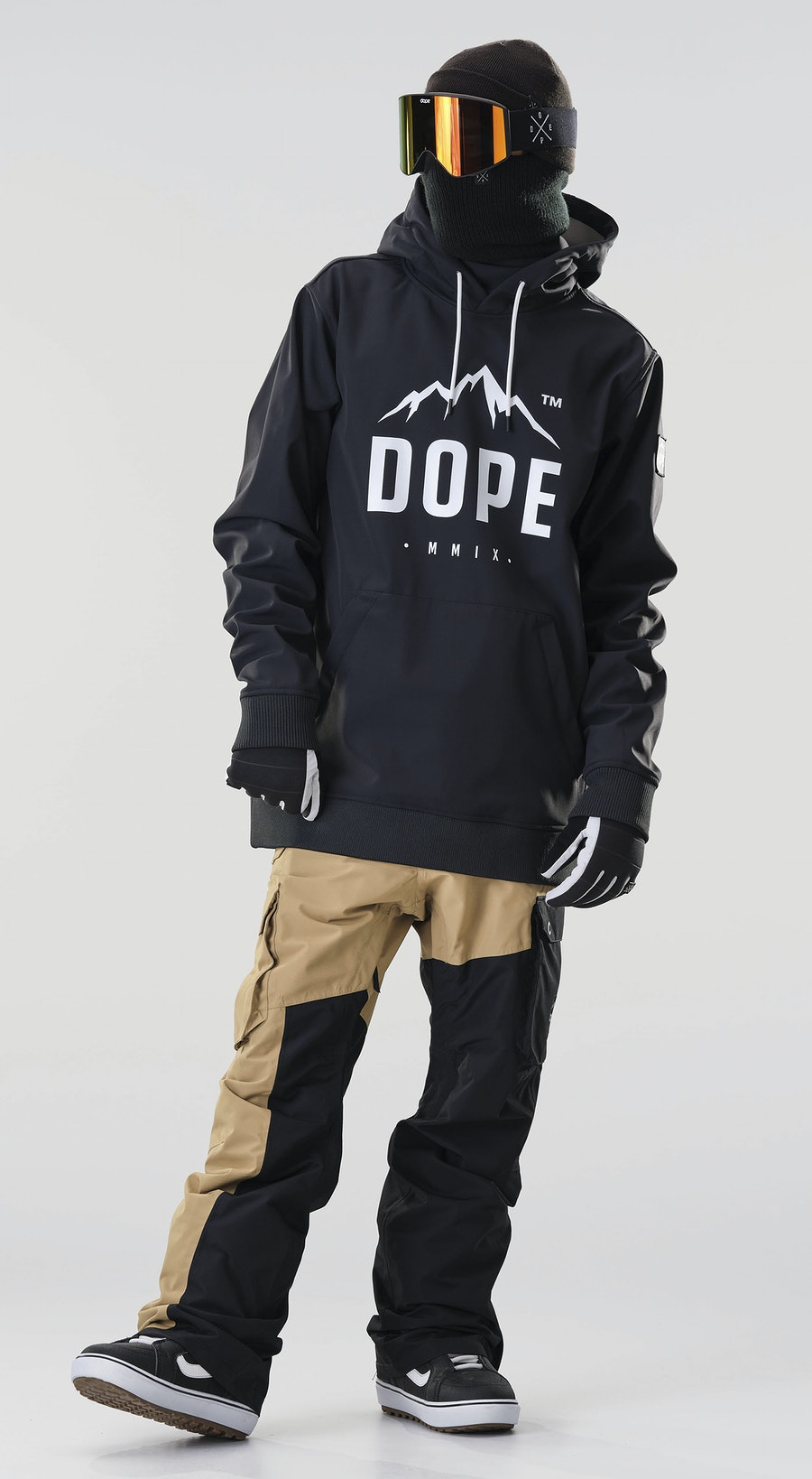 Dope Yeti Paradise Black Snowboard clothing Multi