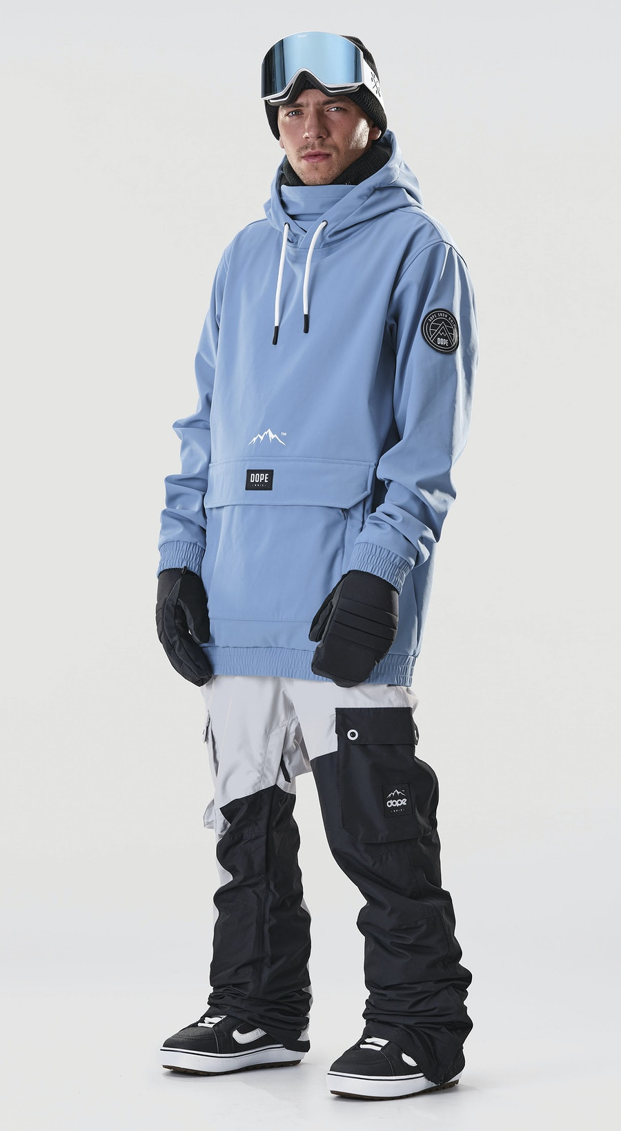 Dope Wylie Patch Blue Steel Vêtements de Snowboard  Multi