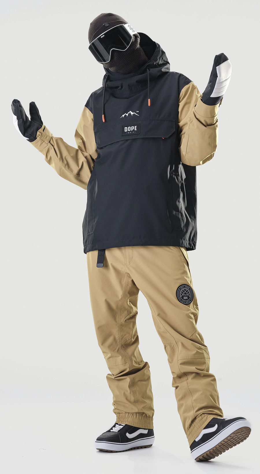 Dope Blizzard PO Gold/Black Vêtements de Snowboard  Multi