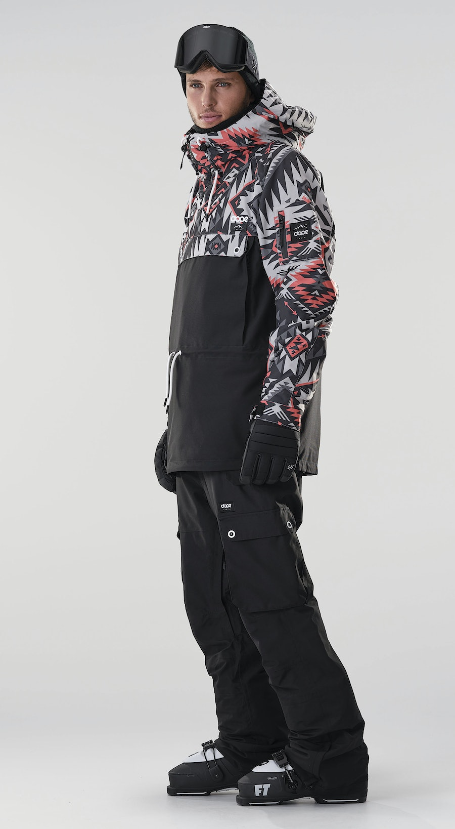 Dope Annok Arrow Red/Black Vêtements de Ski Multi