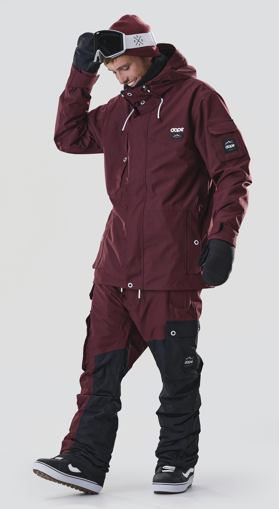 Dope Adept Burgundy Snowboard clothing Multi